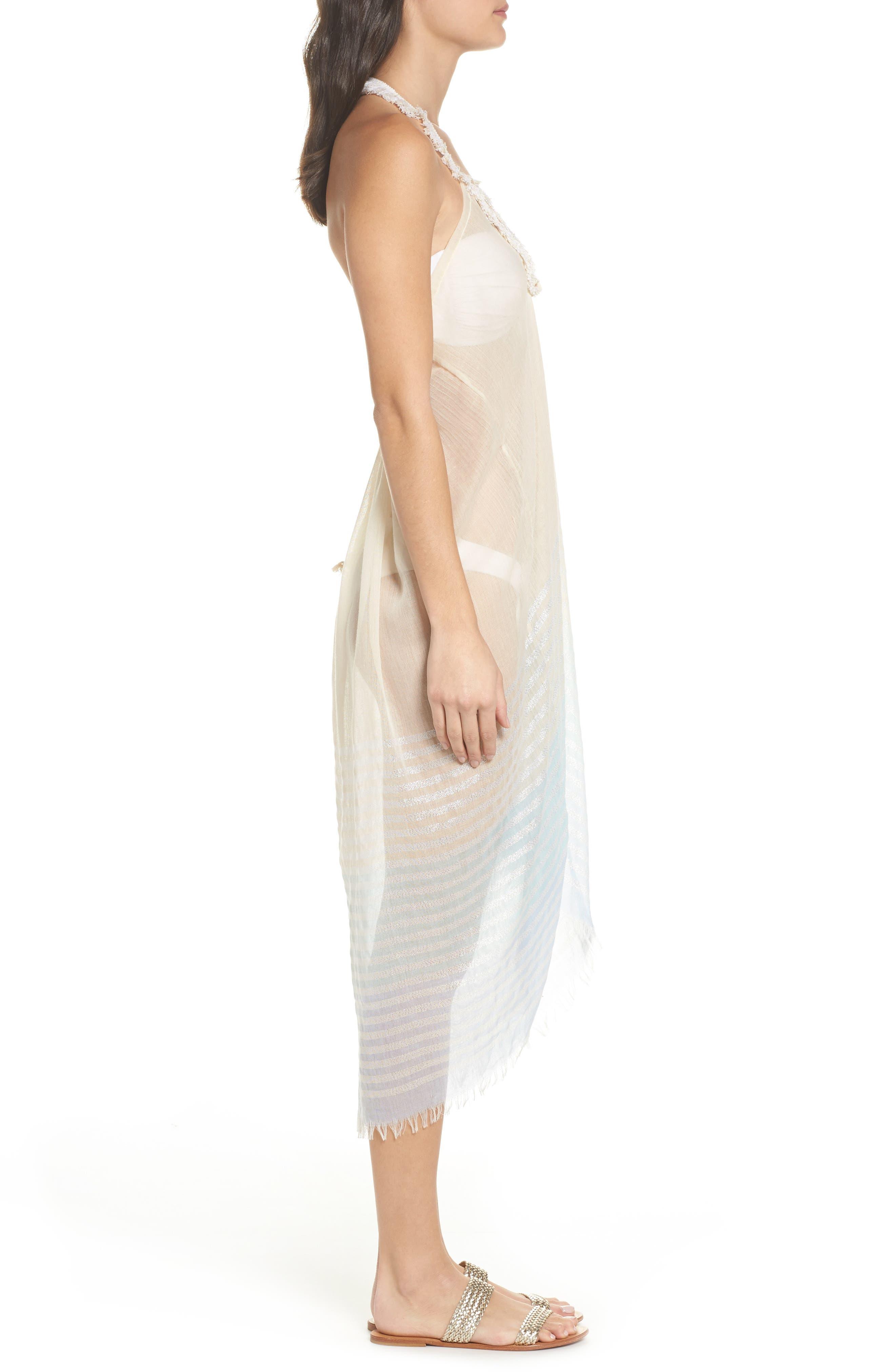 Halter Cover-Up Dress,                             Alternate thumbnail 3, color,                             455