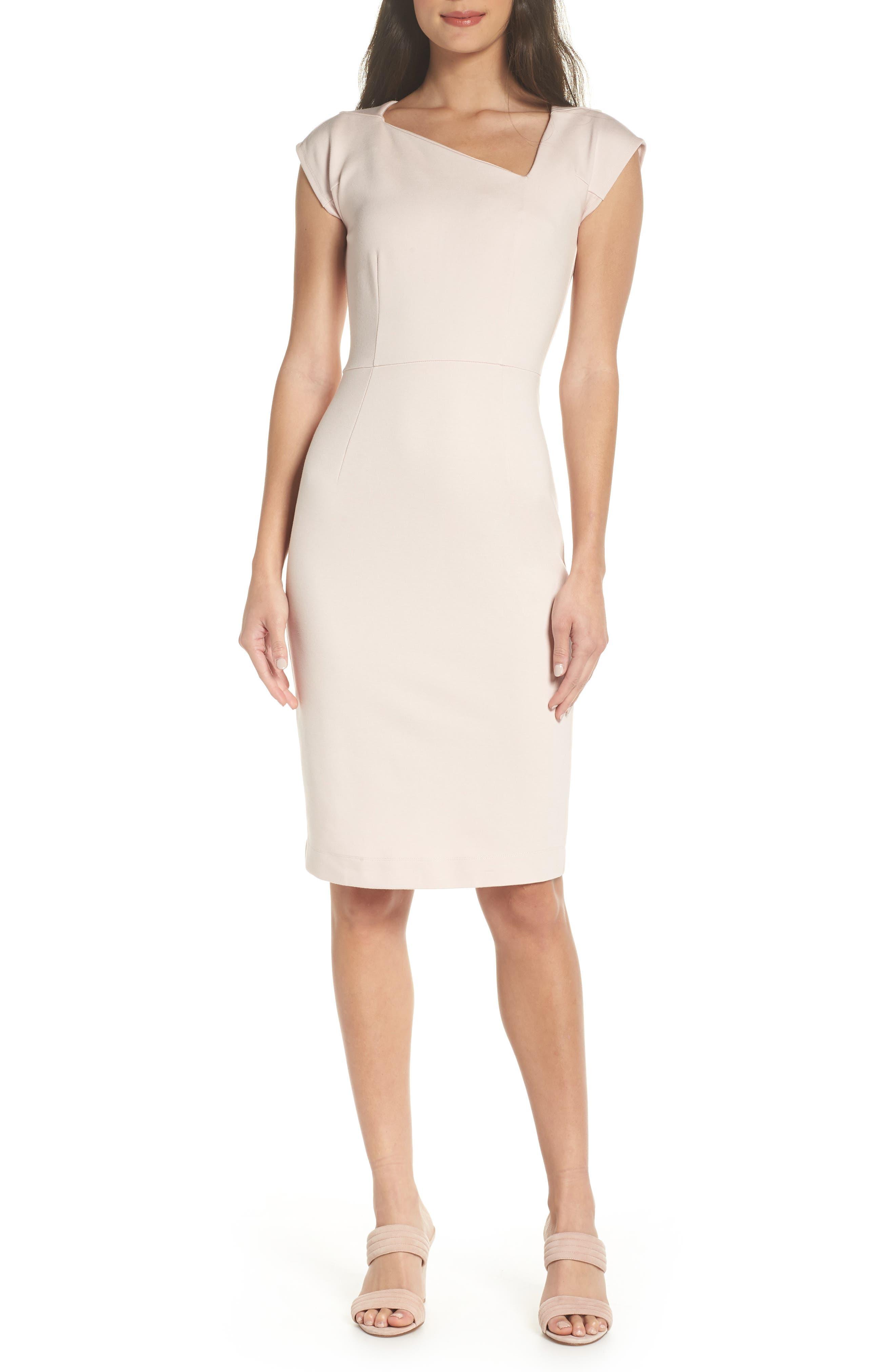 French Connection Lula Sheath Dress, Pink