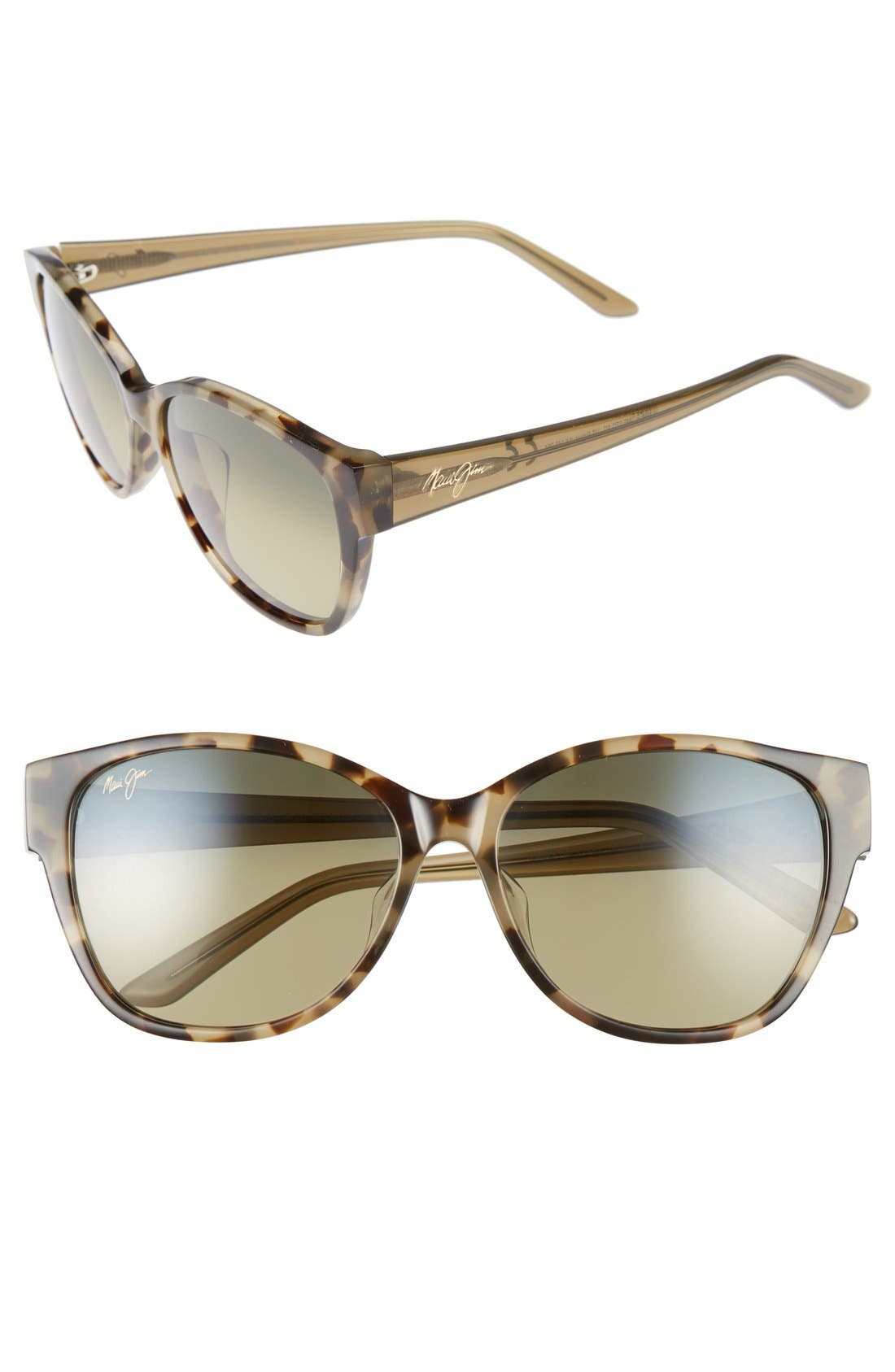 Maui Jim Summer Time 5m Polarizedplus2 Cat Eye Sunglasses - Olive Tokyo Tortoise