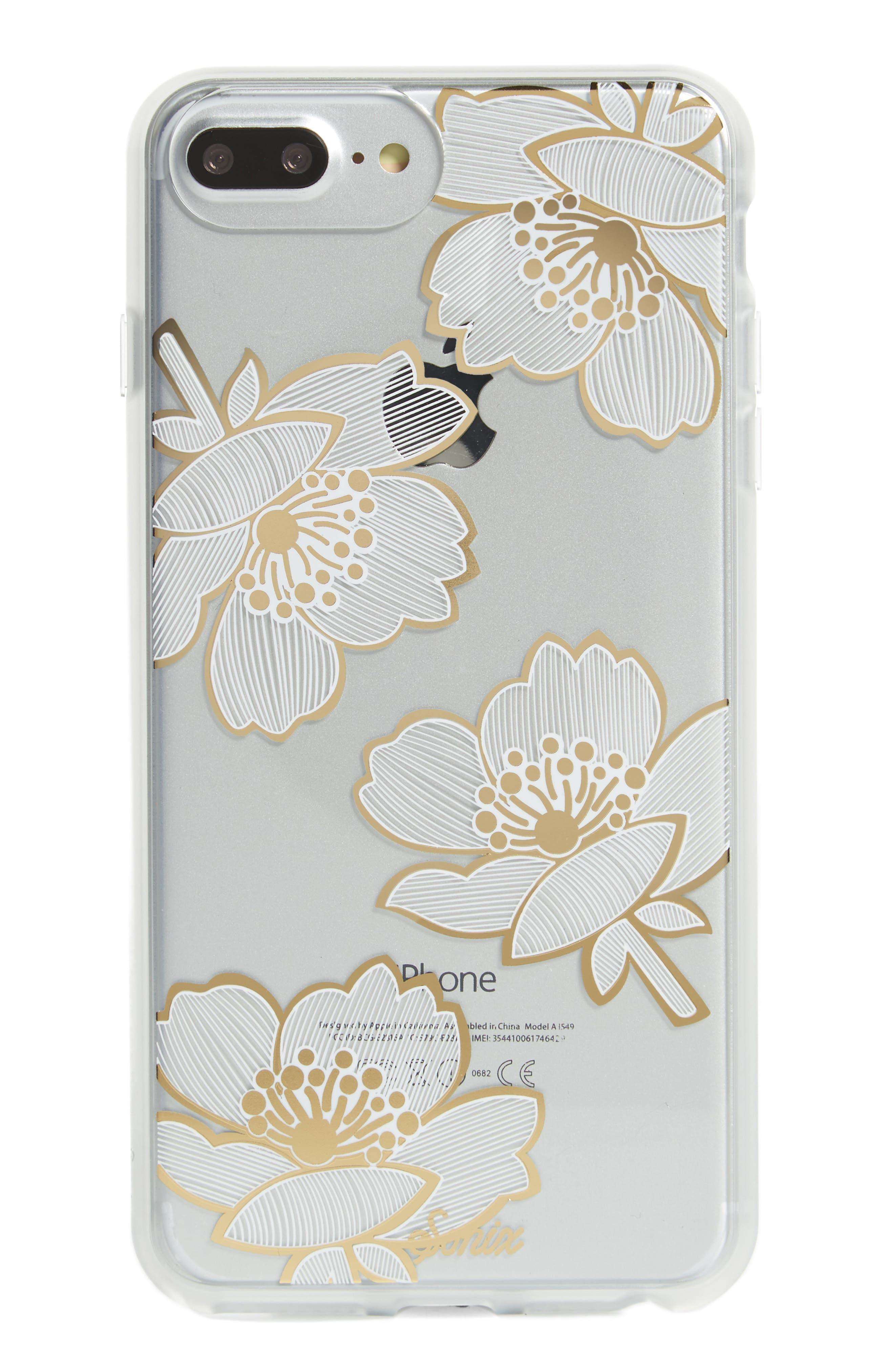 Bellflower iPhone 6/6s/7/8 & 6/6s/7/8 Plus Case,                         Main,                         color, GOLD