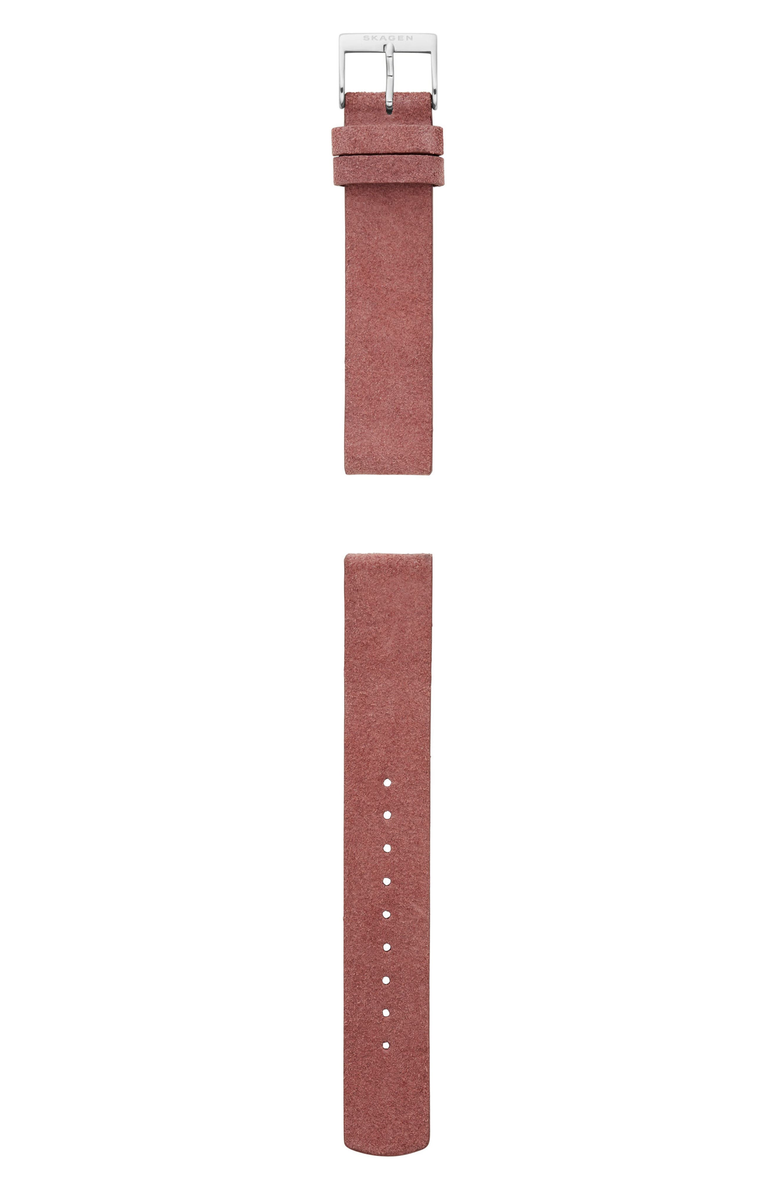 Leather Watch Strap, 16mm,                             Main thumbnail 3, color,