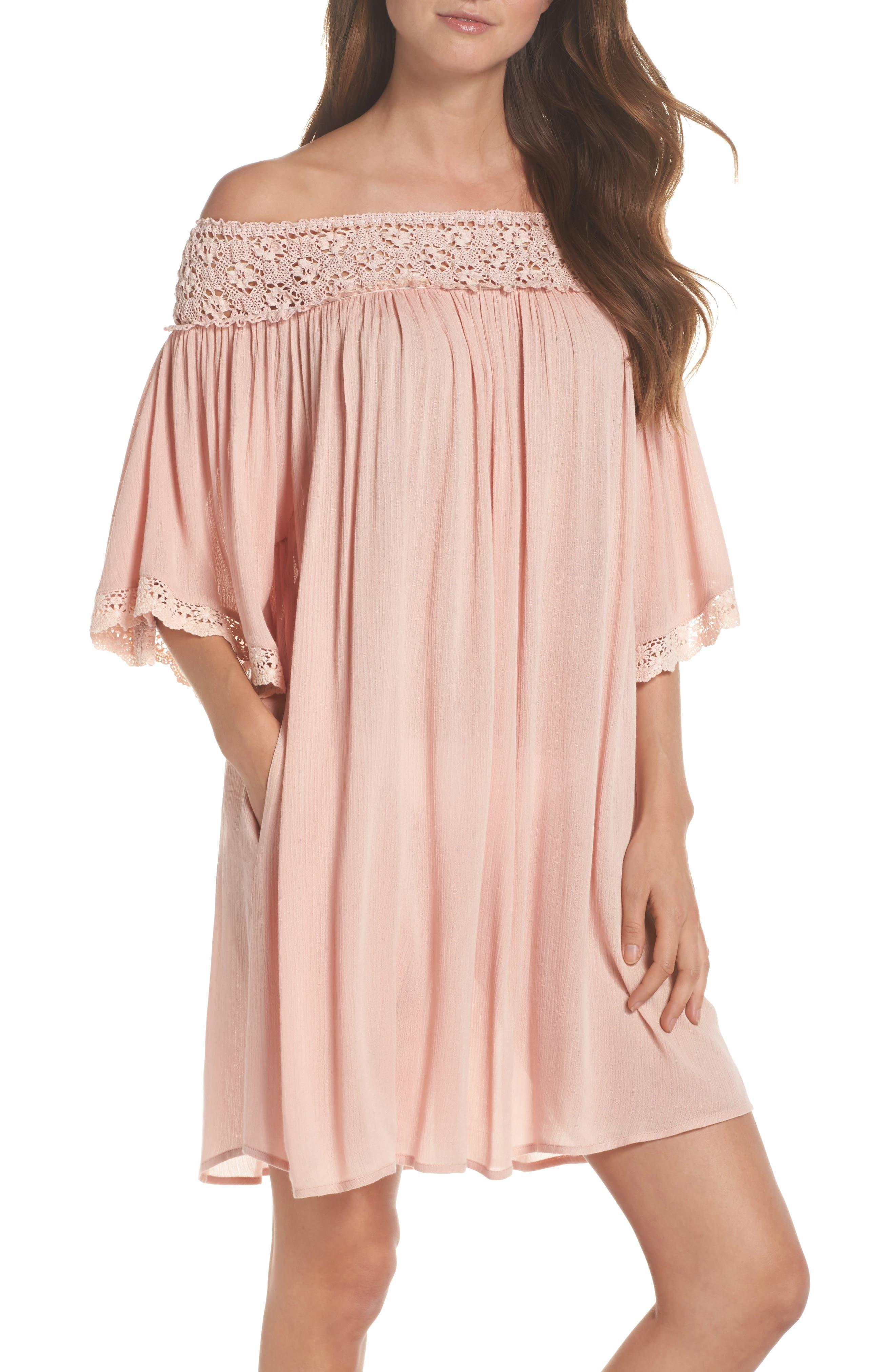 Rimini Crochet Cover-Up Dress,                             Main thumbnail 2, color,