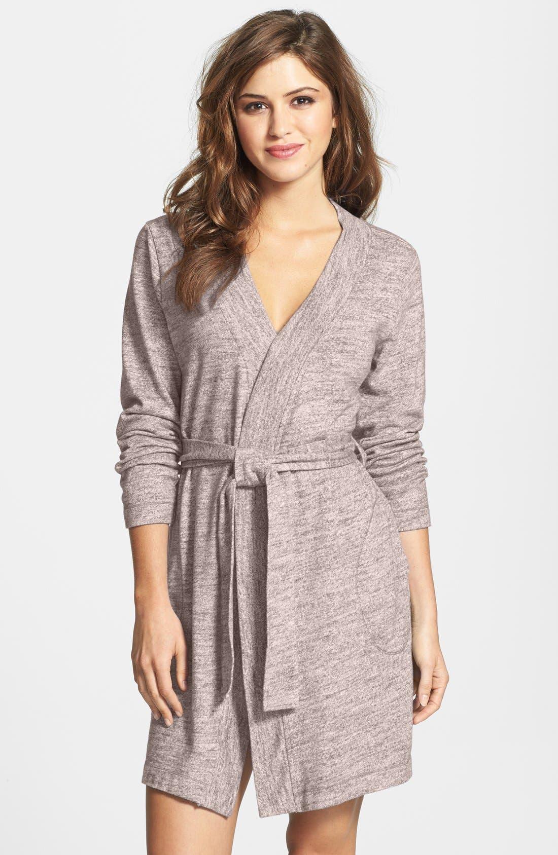 UGG<SUP>®</SUP> Australia 'Evelynn' Slub Knit Robe, Main, color, 217