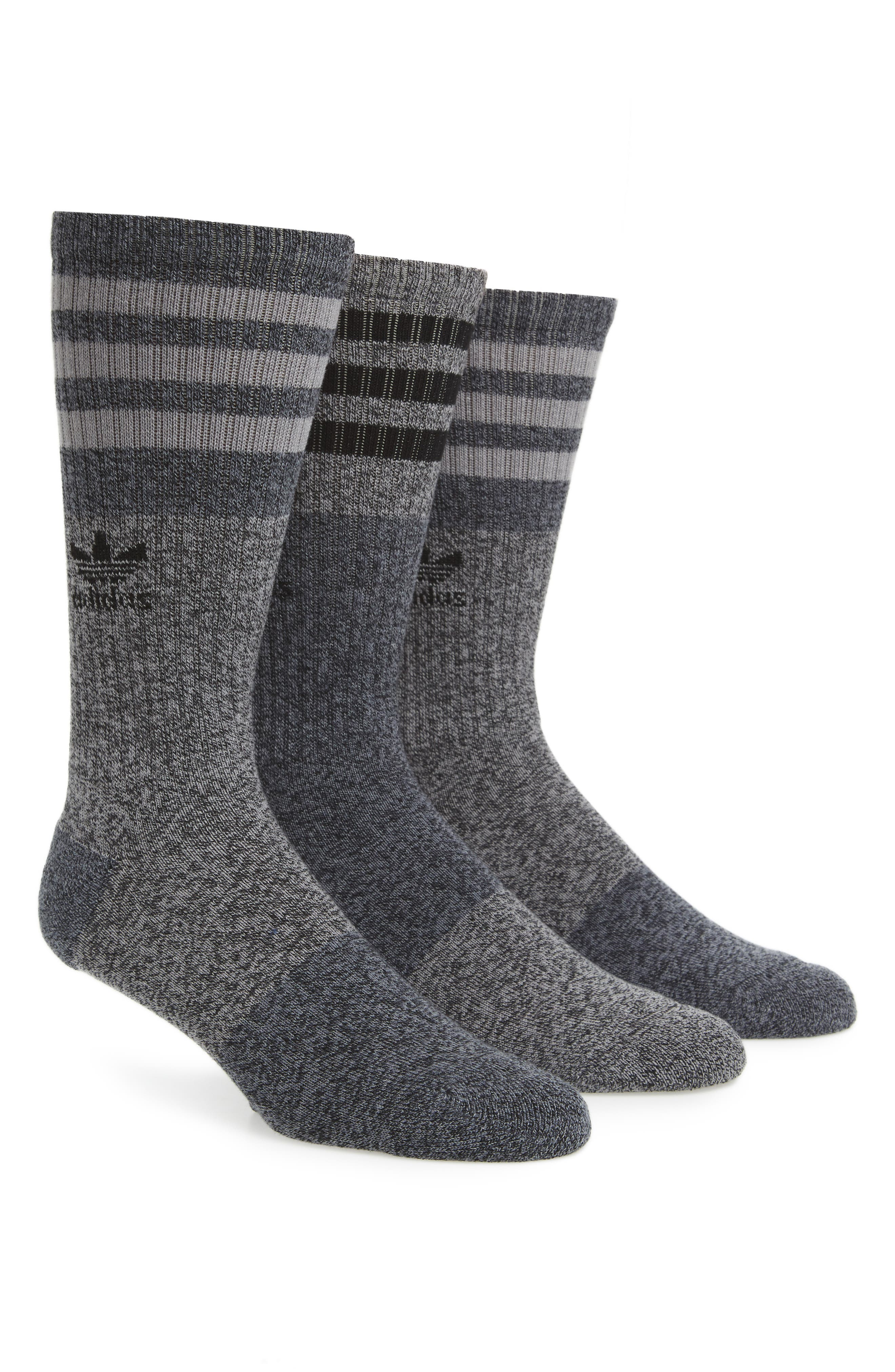 3-Pack Stripe Crew Socks,                             Main thumbnail 1, color,                             001