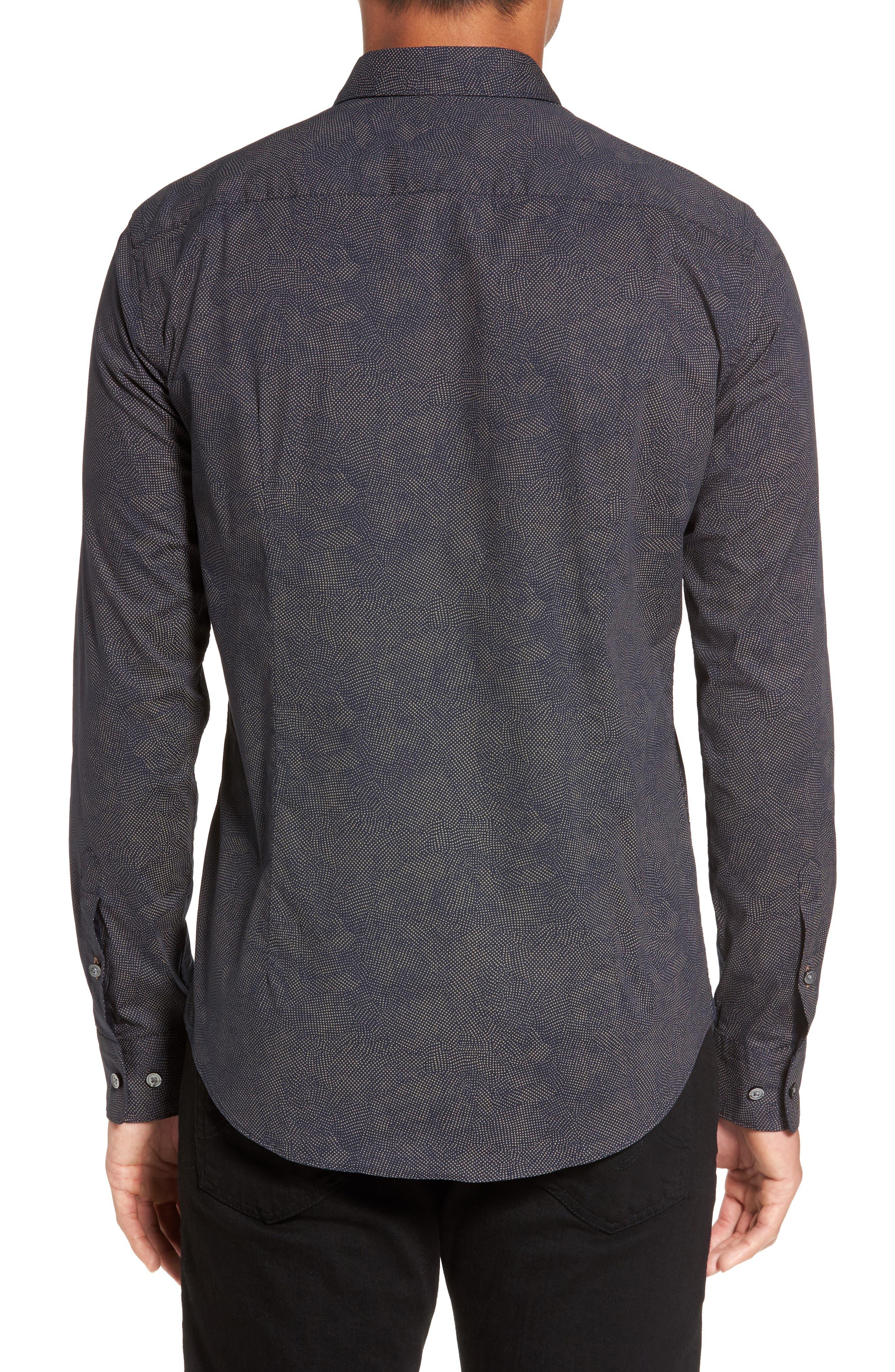 Hugo Boss Ronni Print Trim Fit Sport Shirt,                             Alternate thumbnail 2, color,                             410
