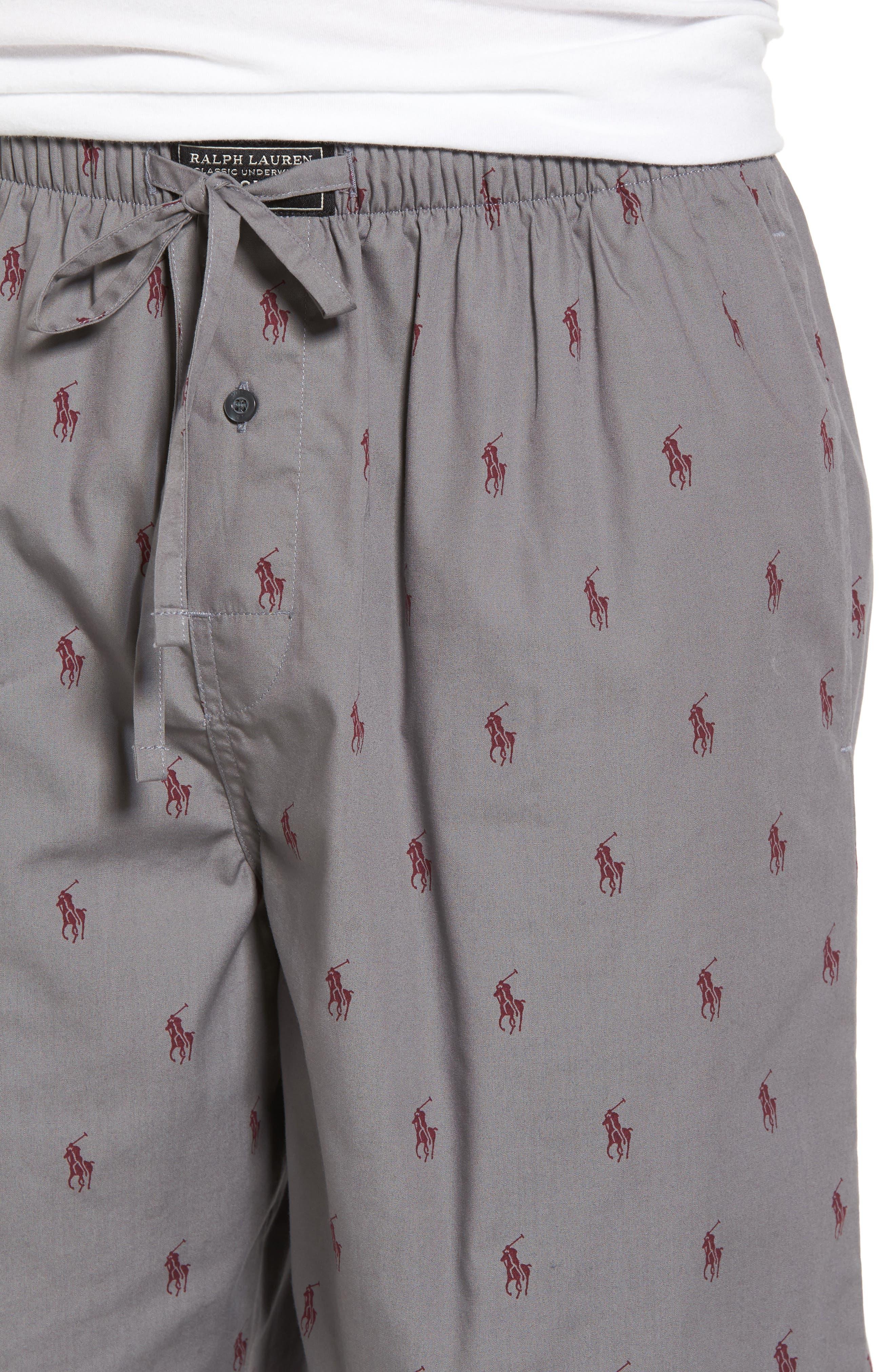 Woven Pajama Shorts,                             Alternate thumbnail 4, color,                             057