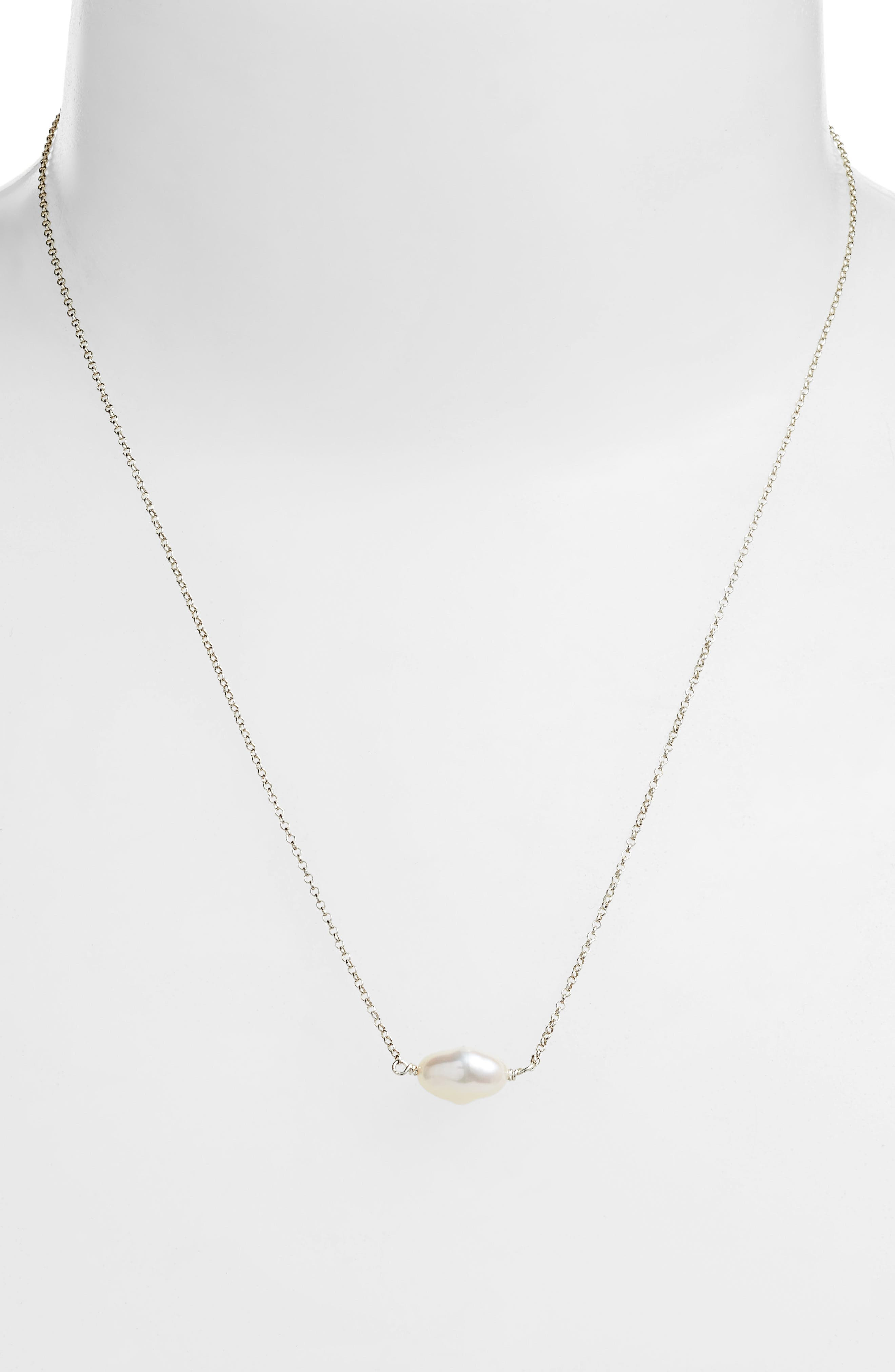 Keshi Cultured Pearl Necklace,                             Alternate thumbnail 2, color,                             042