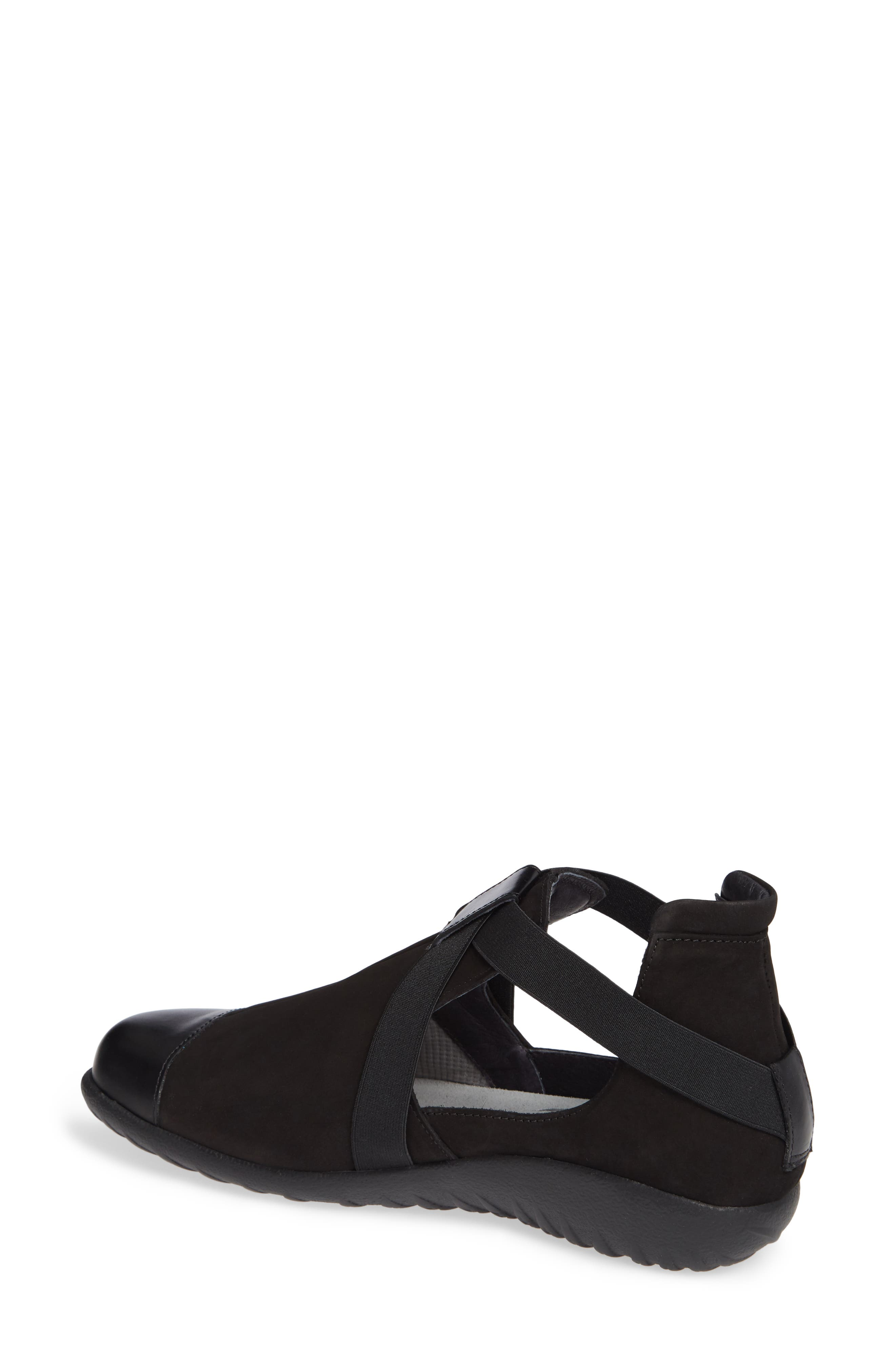 Rakua Slip On Sneaker,                             Alternate thumbnail 2, color,                             BLACK NUBUCK