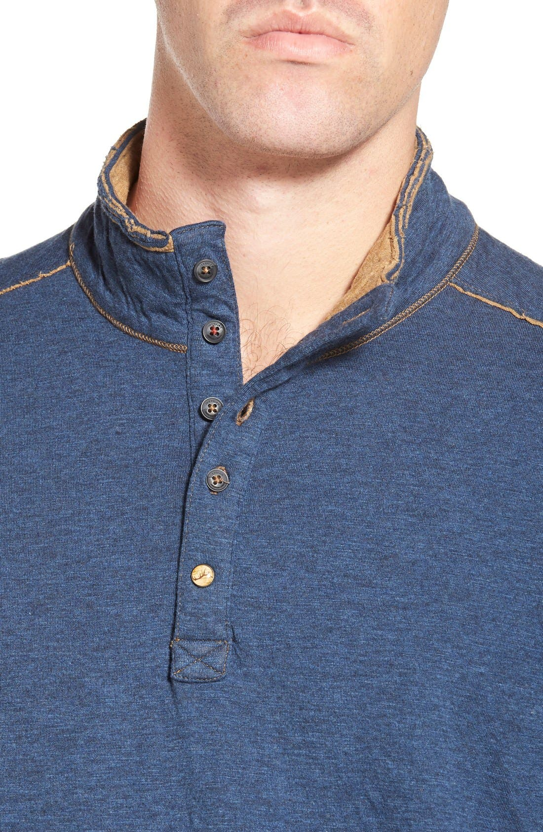 'Mitch' Double Faced Mock Collar Shirt,                             Alternate thumbnail 14, color,