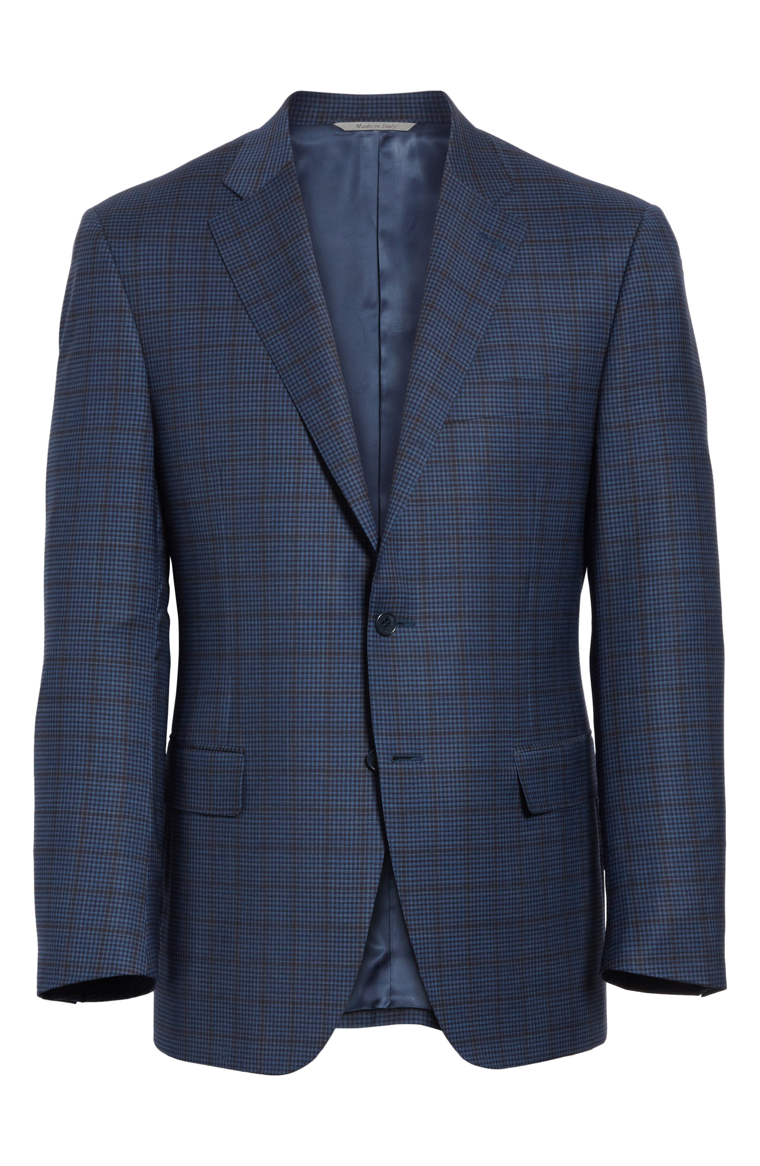 Classic Fit Check Wool Sport Coat,                             Alternate thumbnail 5, color,                             410