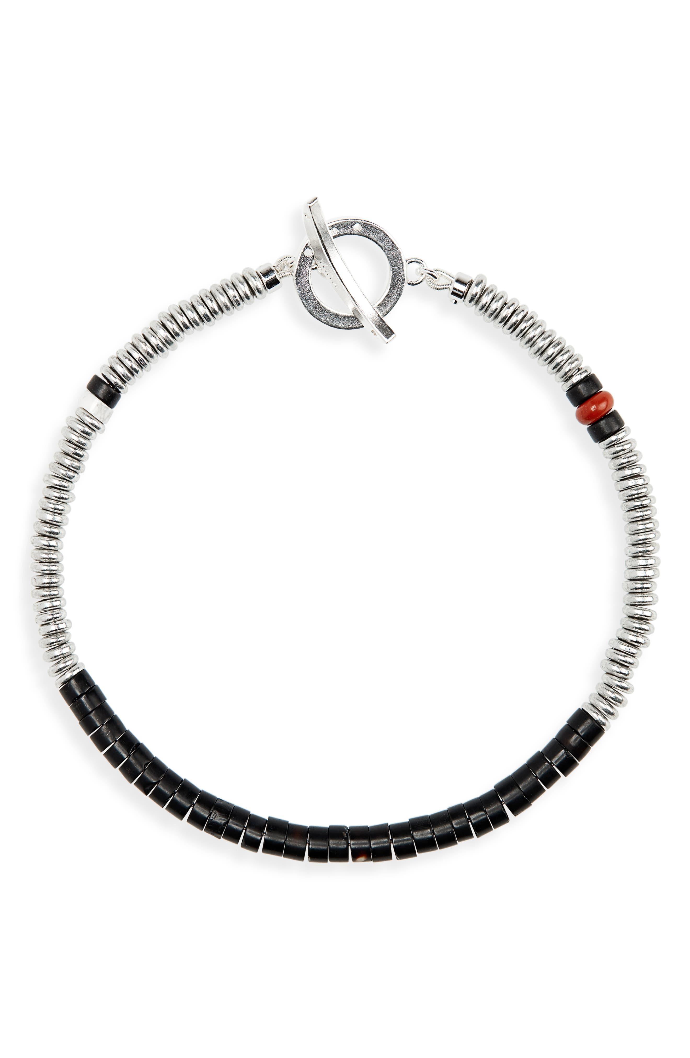 Bead Bracelet,                             Main thumbnail 1, color,                             ONYX