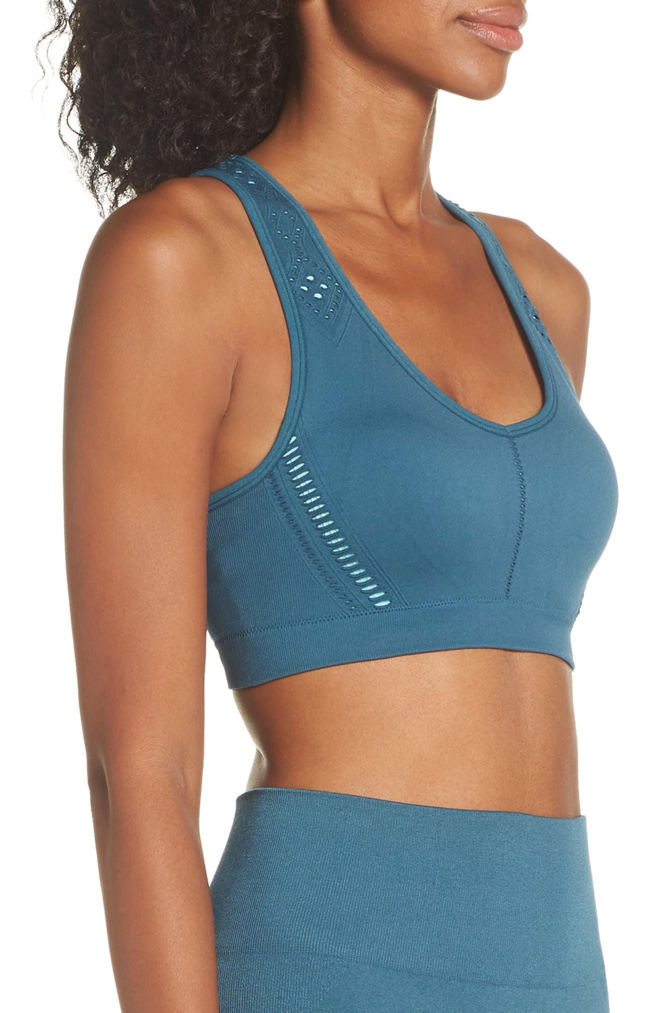 CLIMAWEAR,                             Hansa Sports Bra,                             Alternate thumbnail 3, color,                             NORTH SEA W/ AQUA HAZE
