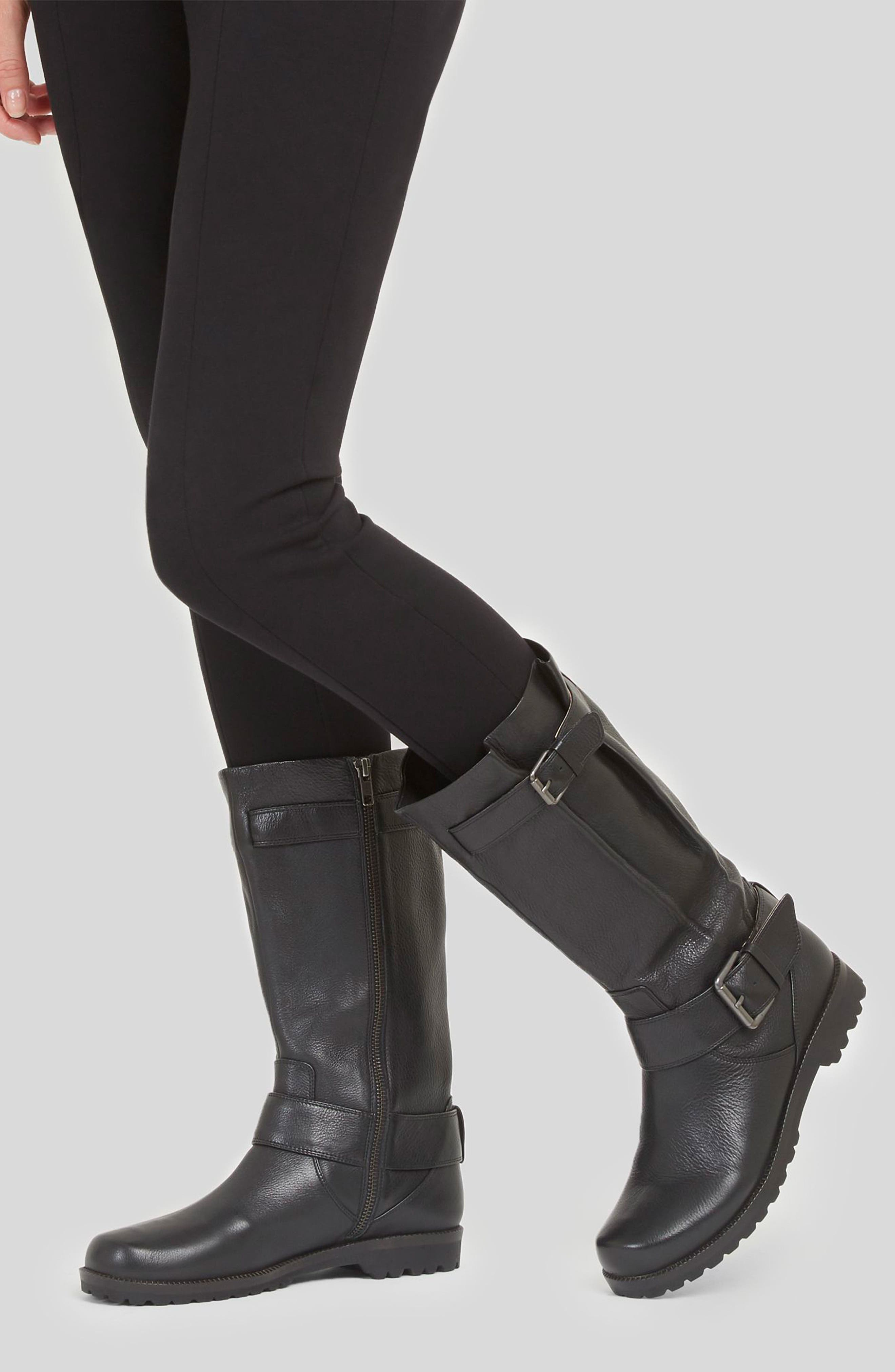 'Buckled Up' Boot,                             Alternate thumbnail 11, color,                             BLACK