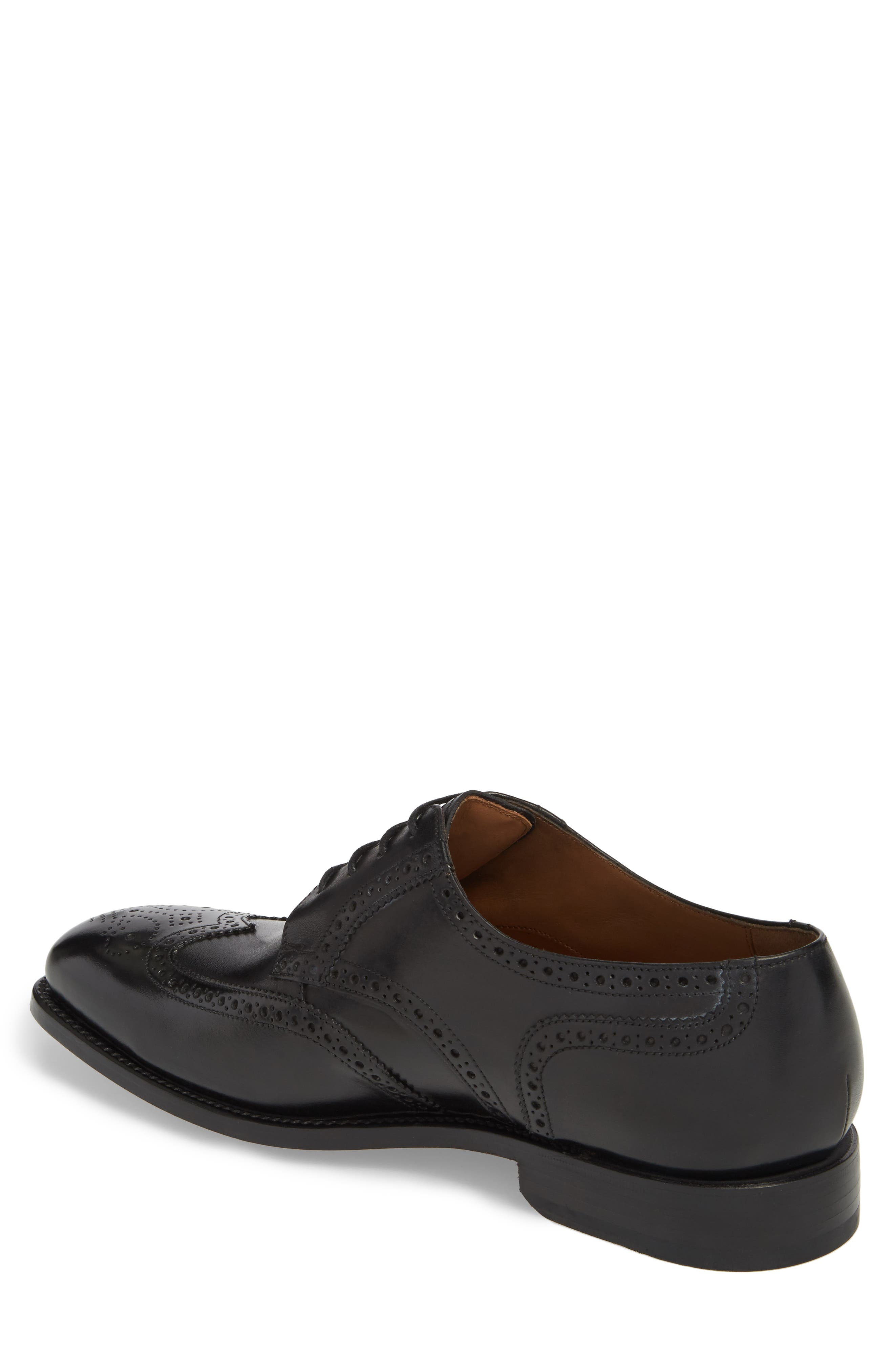 Cavallo Wingtip,                             Alternate thumbnail 2, color,                             BLACK LEATHER
