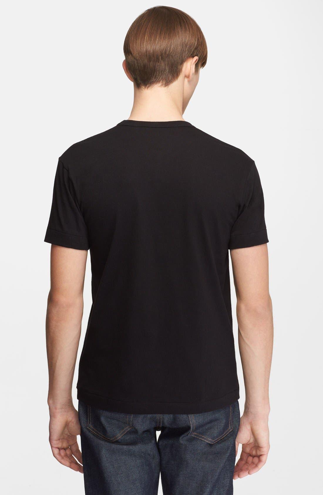 X-Ray Heart Logo T-Shirt,                             Alternate thumbnail 3, color,                             BLACK