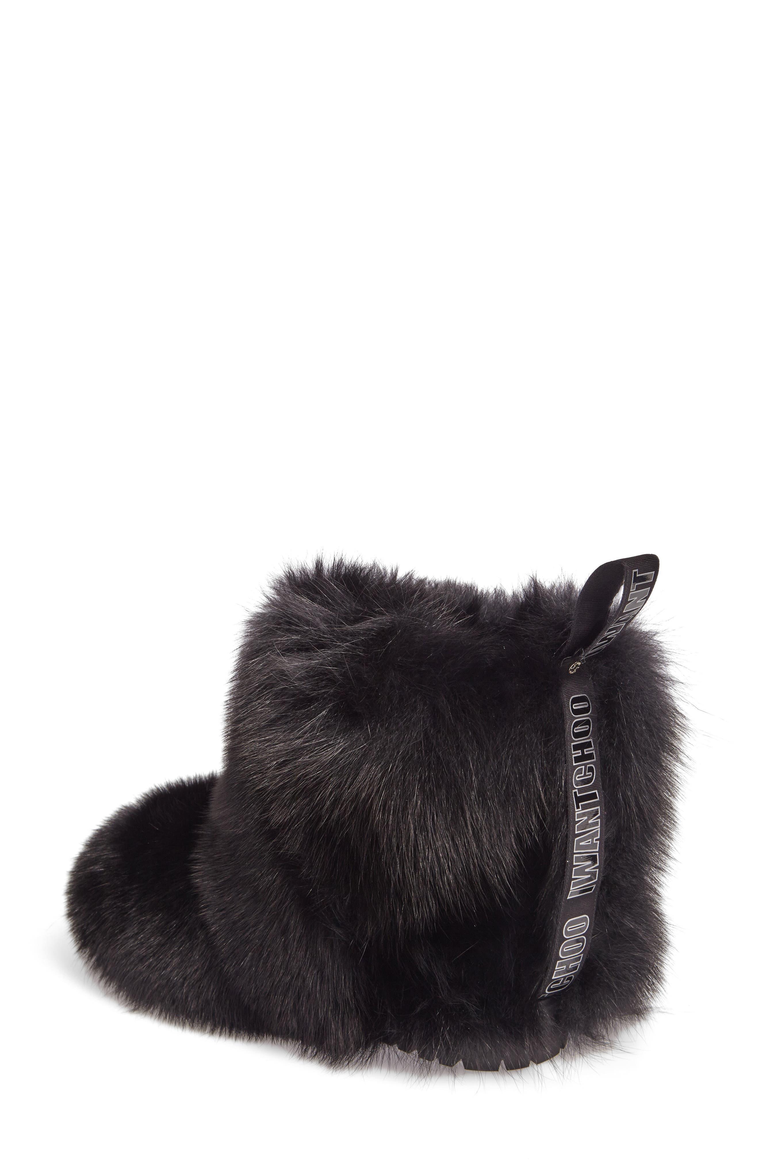 Dalton Genuine Fox & Rabbit Fur Bootie,                             Alternate thumbnail 2, color,                             001