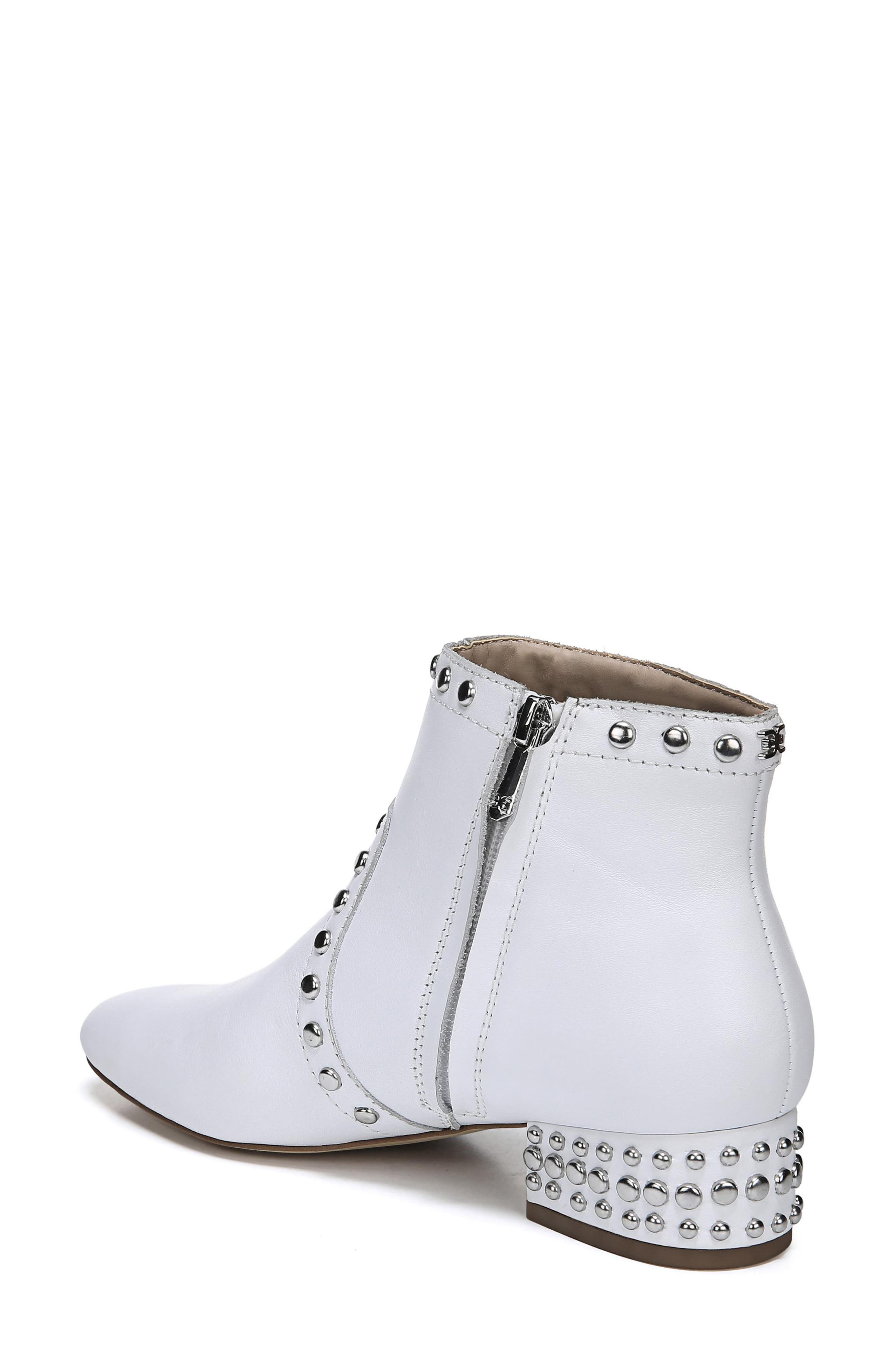 Lorin Studded Bootie,                             Alternate thumbnail 2, color,                             WHITE LEATHER
