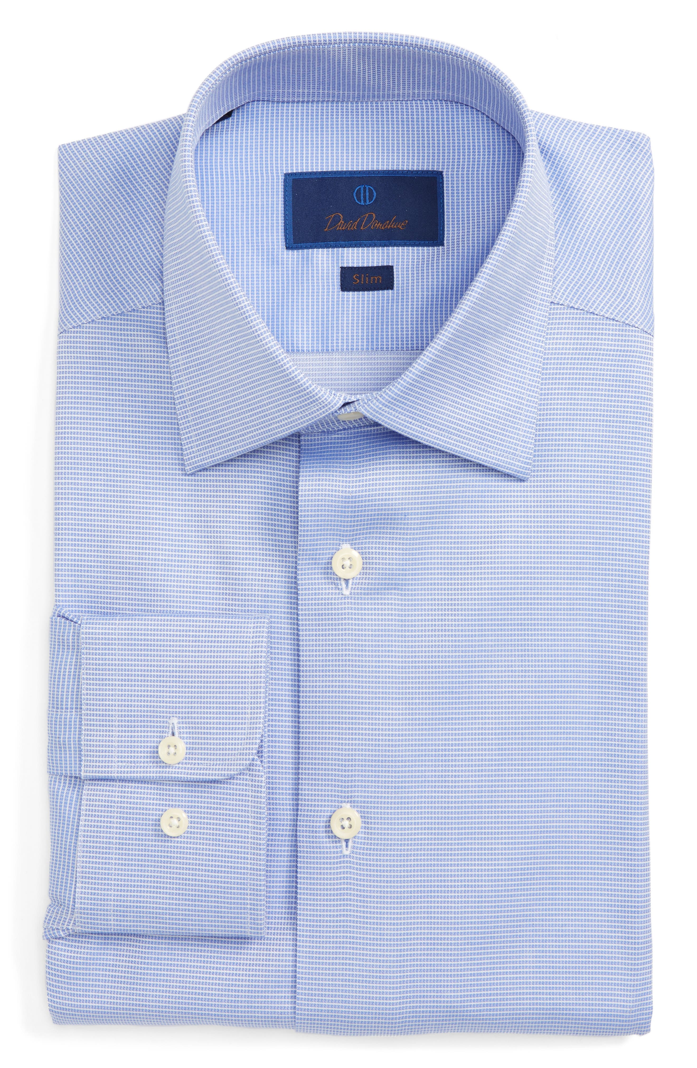 Slim Fit Check Dress Shirt,                         Main,                         color, 423