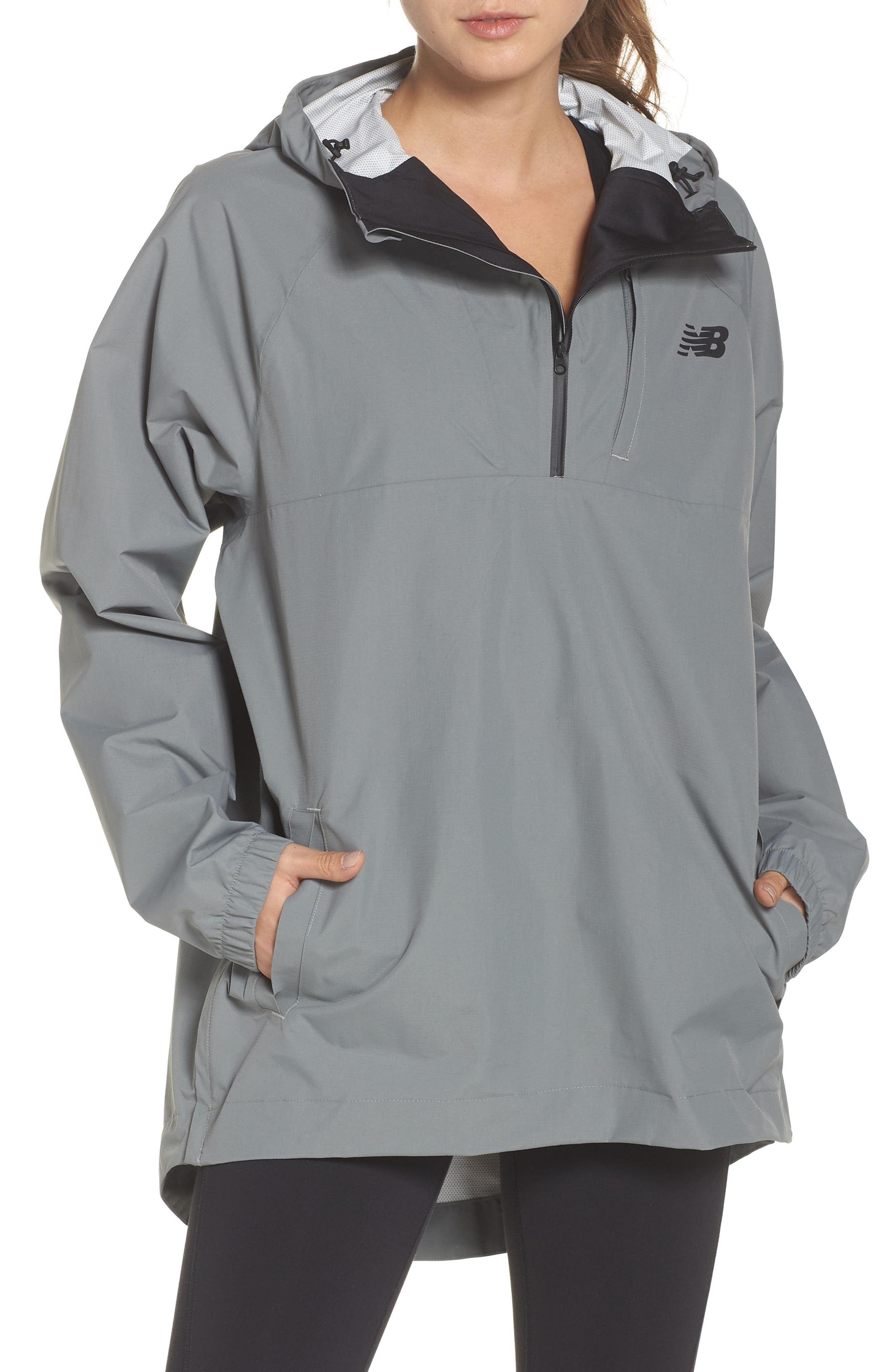NEW BALANCE 247 Luxe Water Resistant Anorak Jacket, Main, color, GREEN