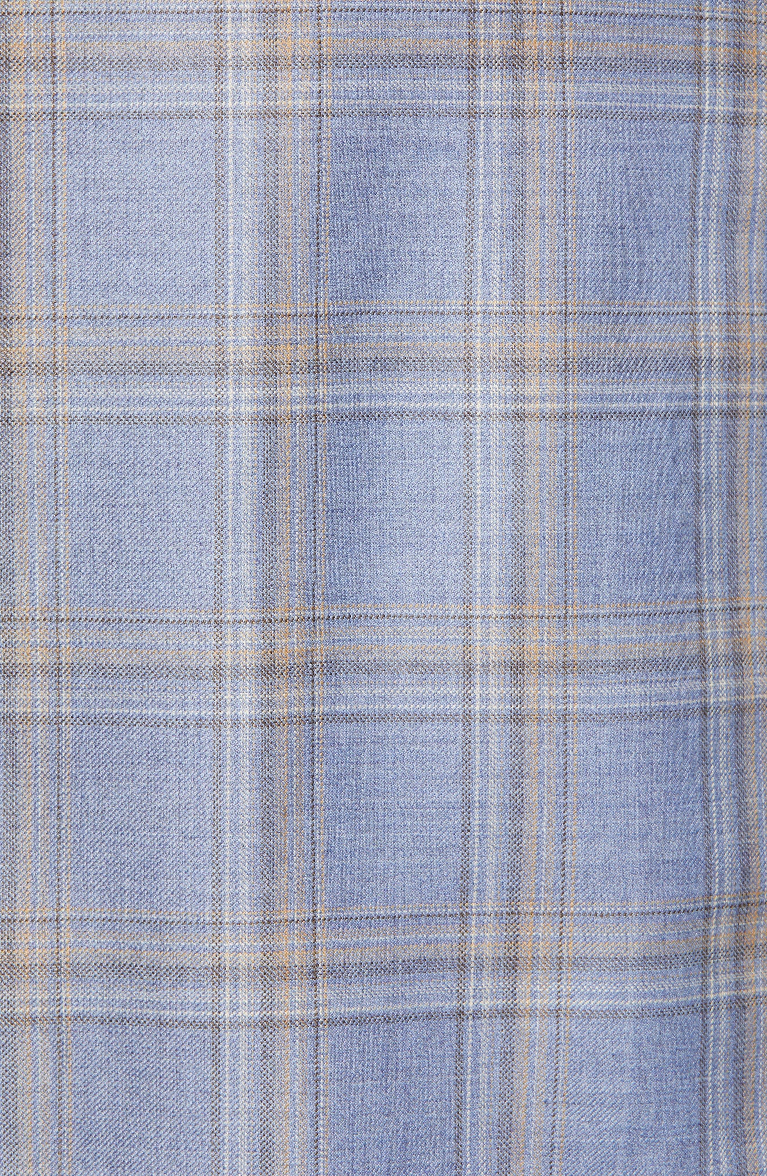 PETER MILLAR,                             Flynn Classic Fit Wool Sport Coat,                             Alternate thumbnail 6, color,                             LIGHT BLUE