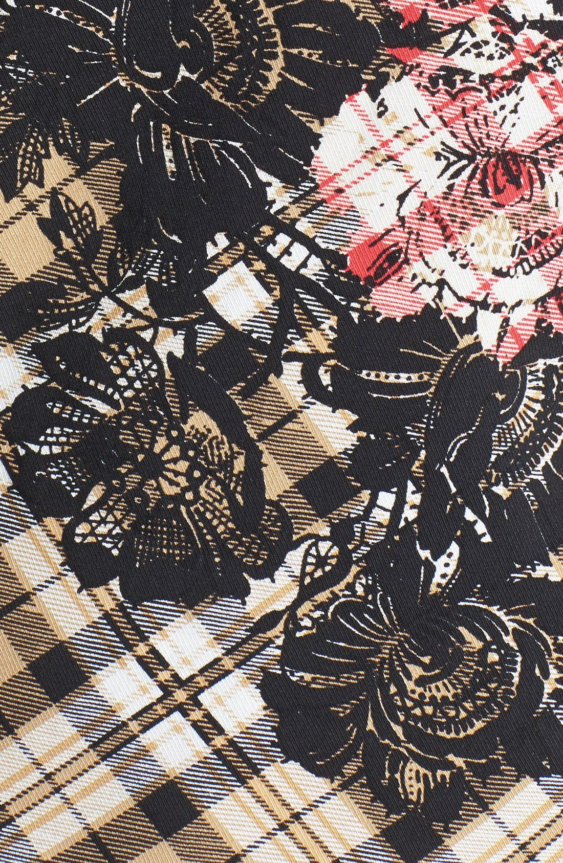 Long Sleeve Plaid Blouse,                             Alternate thumbnail 7, color,