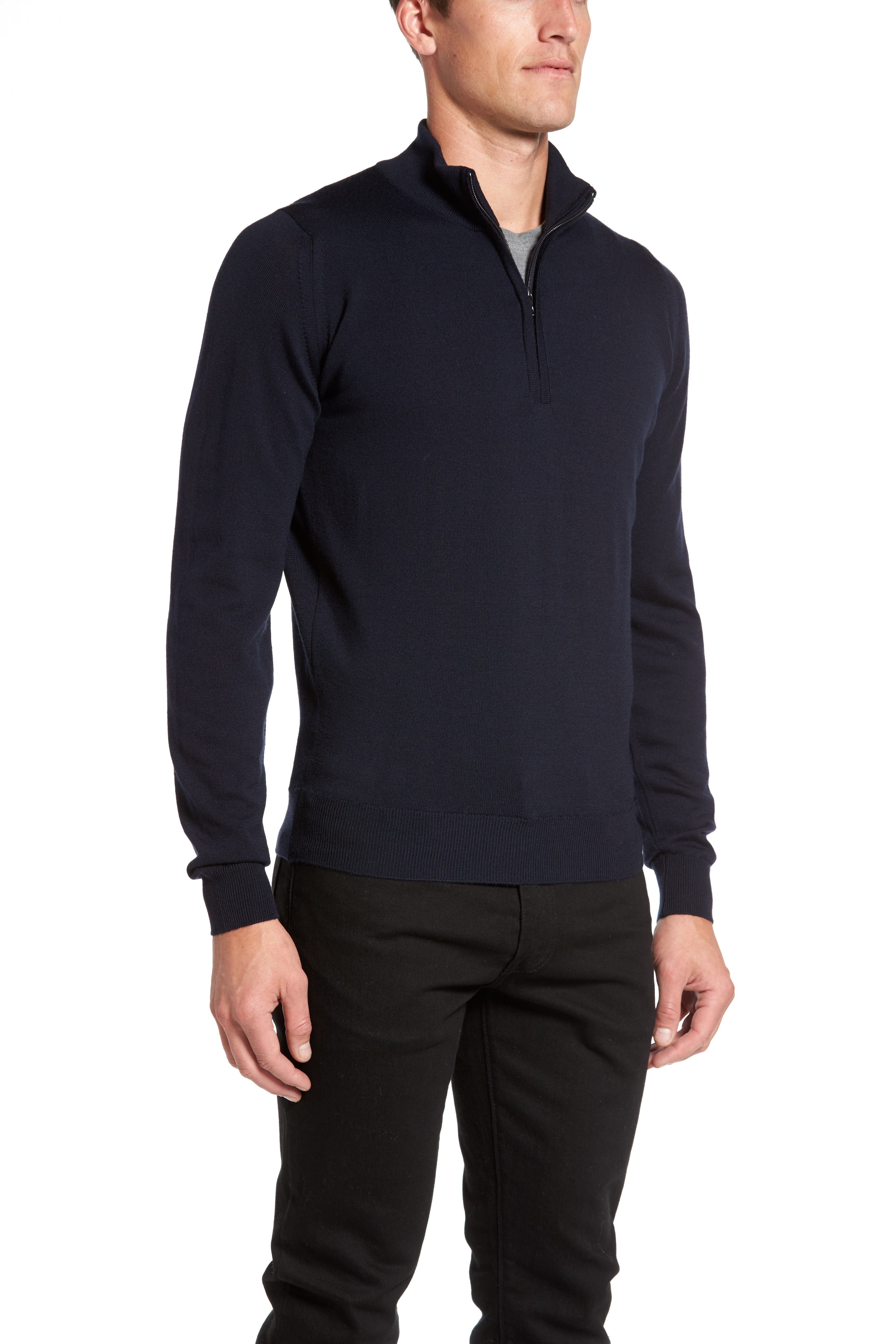 'Tapton' Quarter Zip Merino Wool Sweater,                             Alternate thumbnail 2, color,                             412