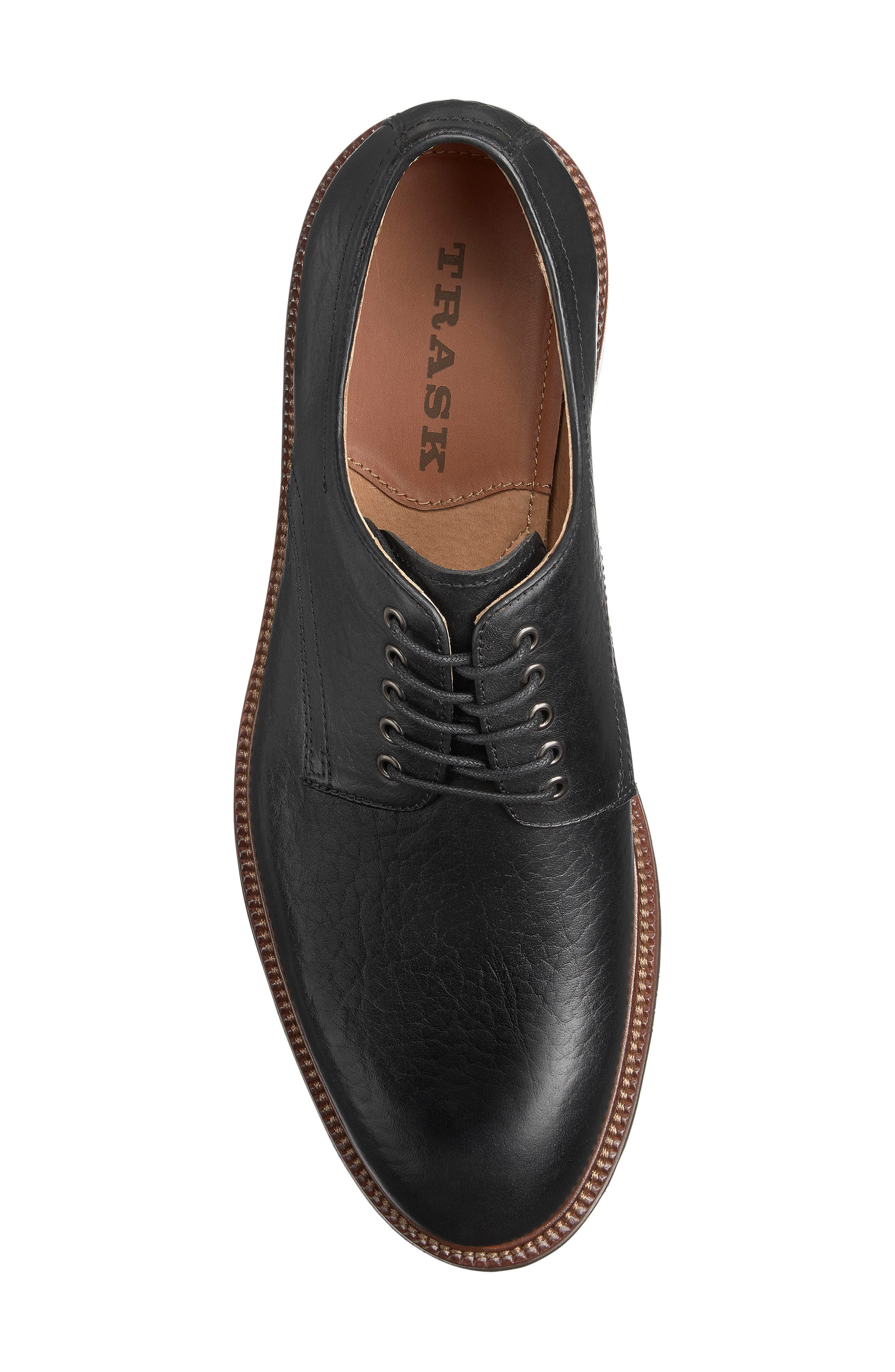 Landry Plain Toe Derby,                             Alternate thumbnail 3, color,                             BLACK LEATHER