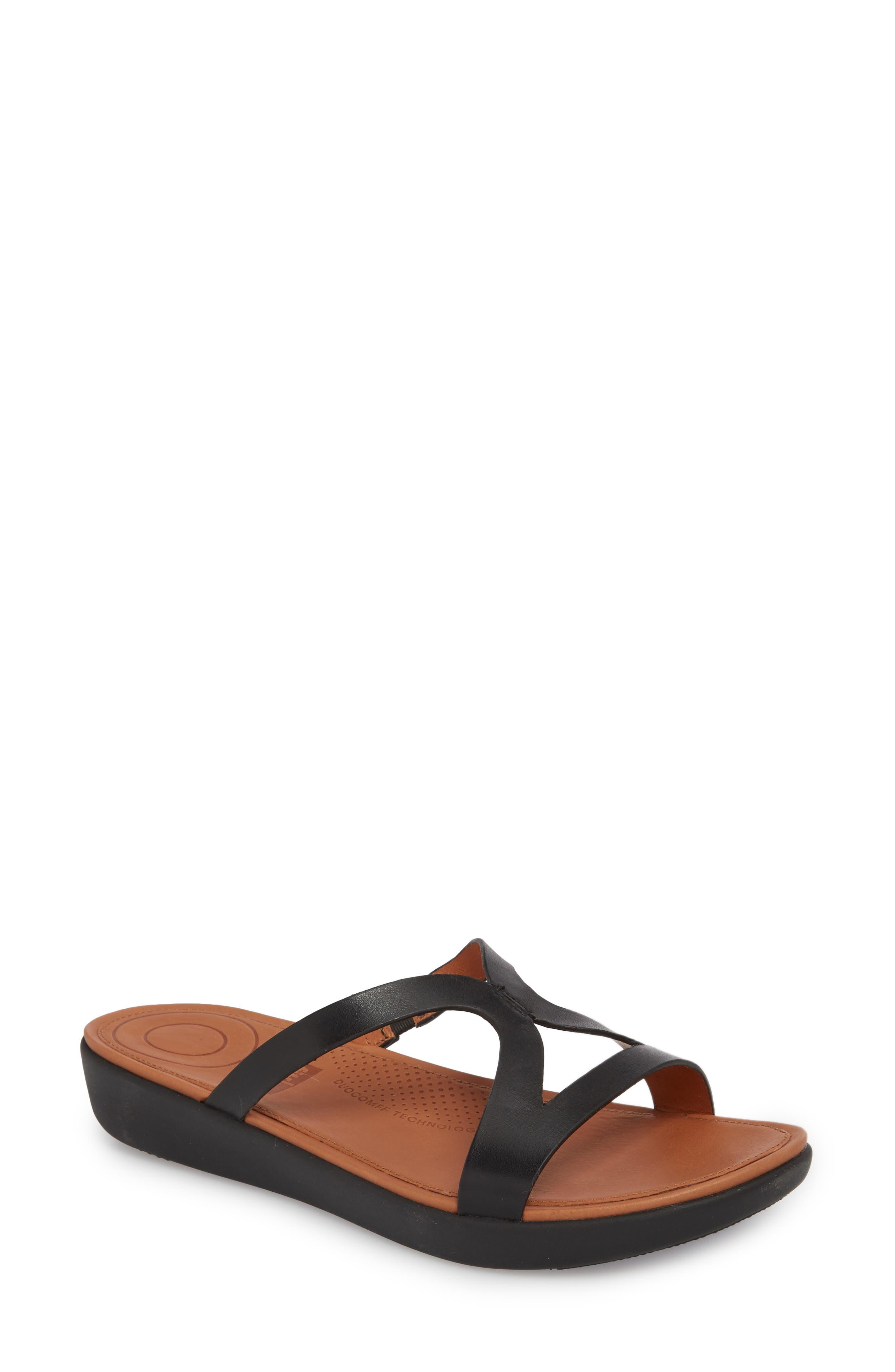 FITFLOP,                             Strata Slide Sandals,                             Main thumbnail 1, color,                             001