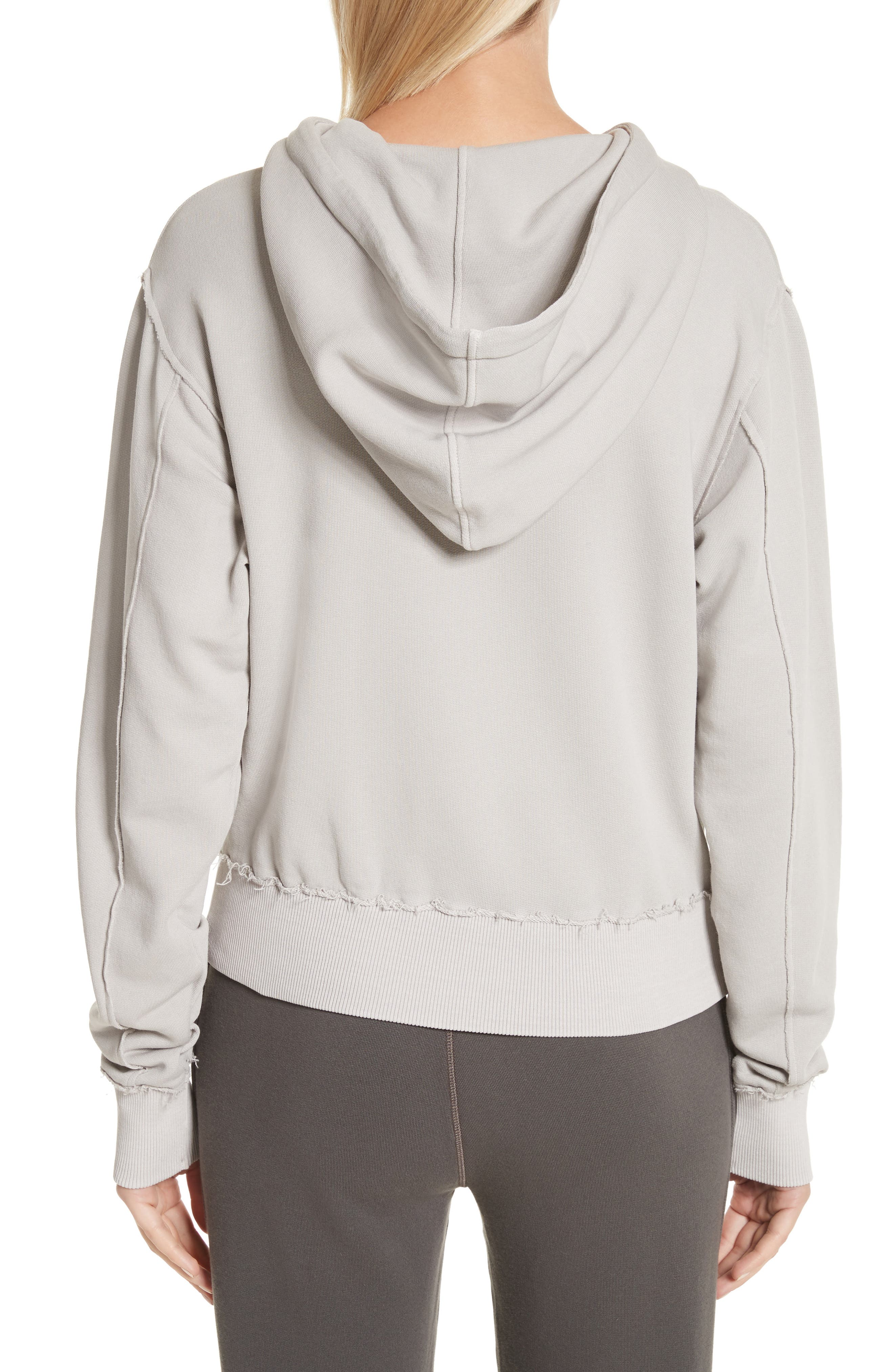 Raw Edge Hoodie,                             Alternate thumbnail 6, color,