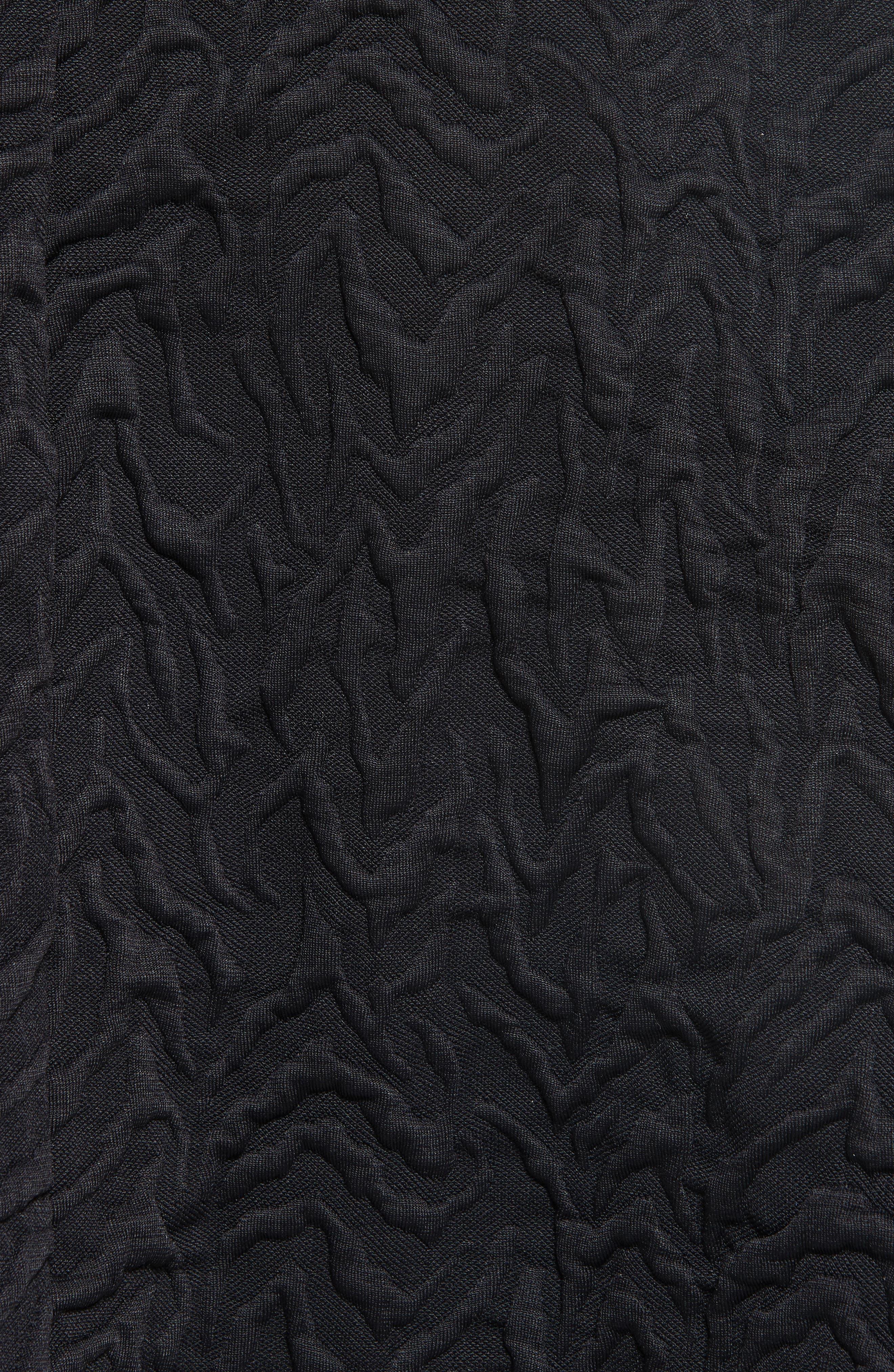 Desert Jacquard Flare Dress,                             Alternate thumbnail 5, color,                             001