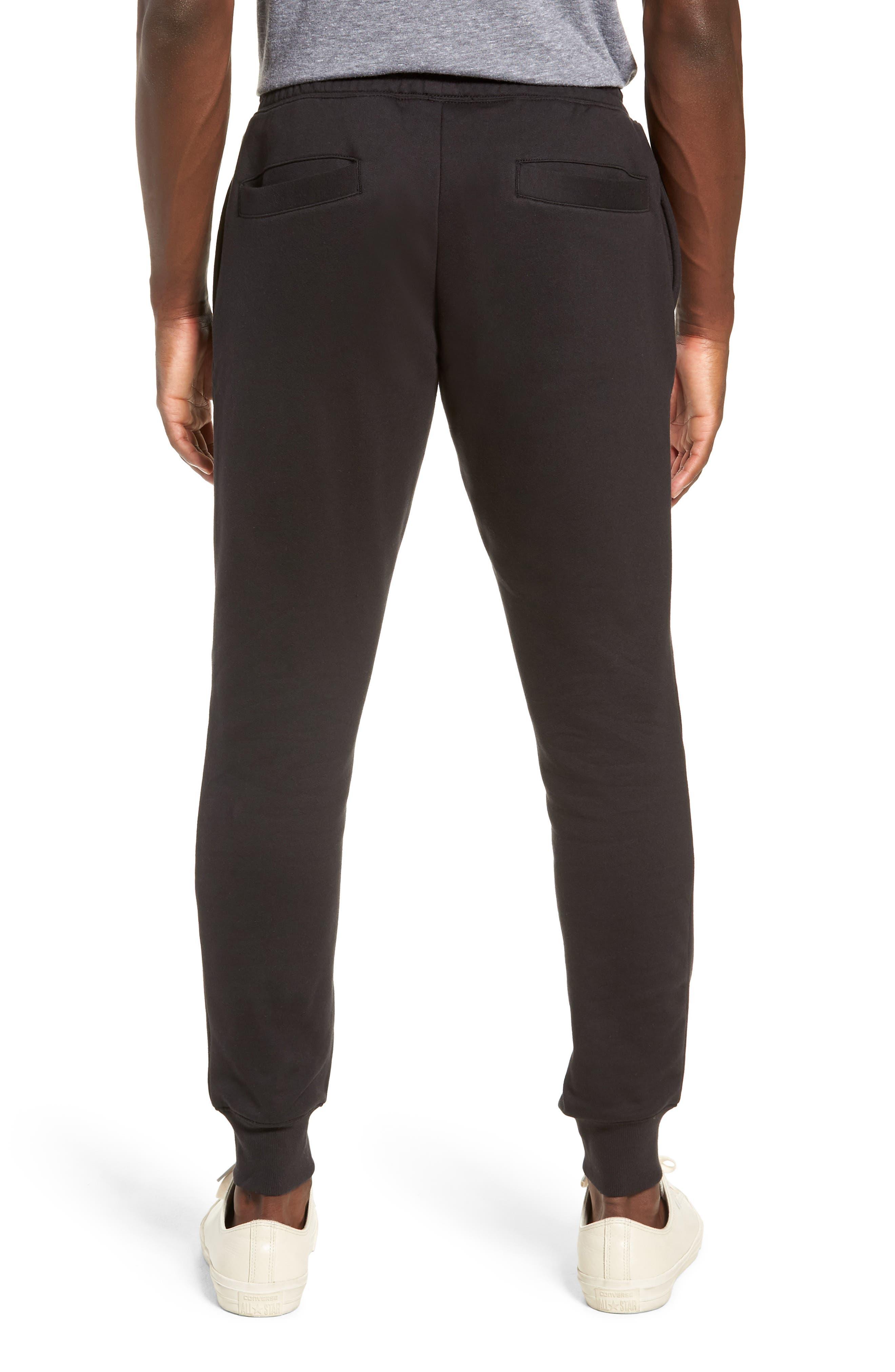 Slim Fit Logo Sweatpants,                             Alternate thumbnail 2, color,                             BLACK