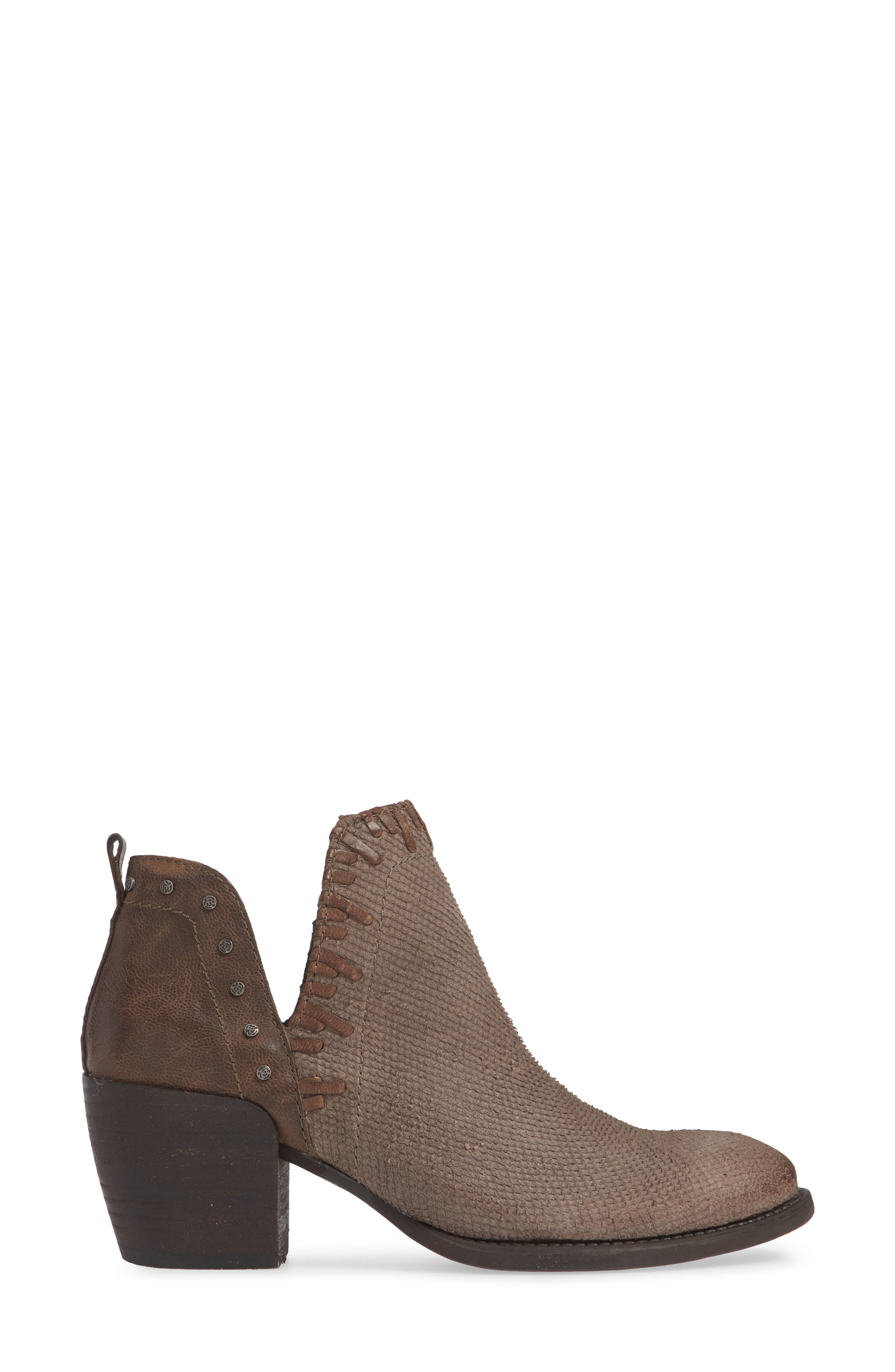 Santa Fe Ankle Bootie,                             Alternate thumbnail 3, color,                             CINDER LEATHER