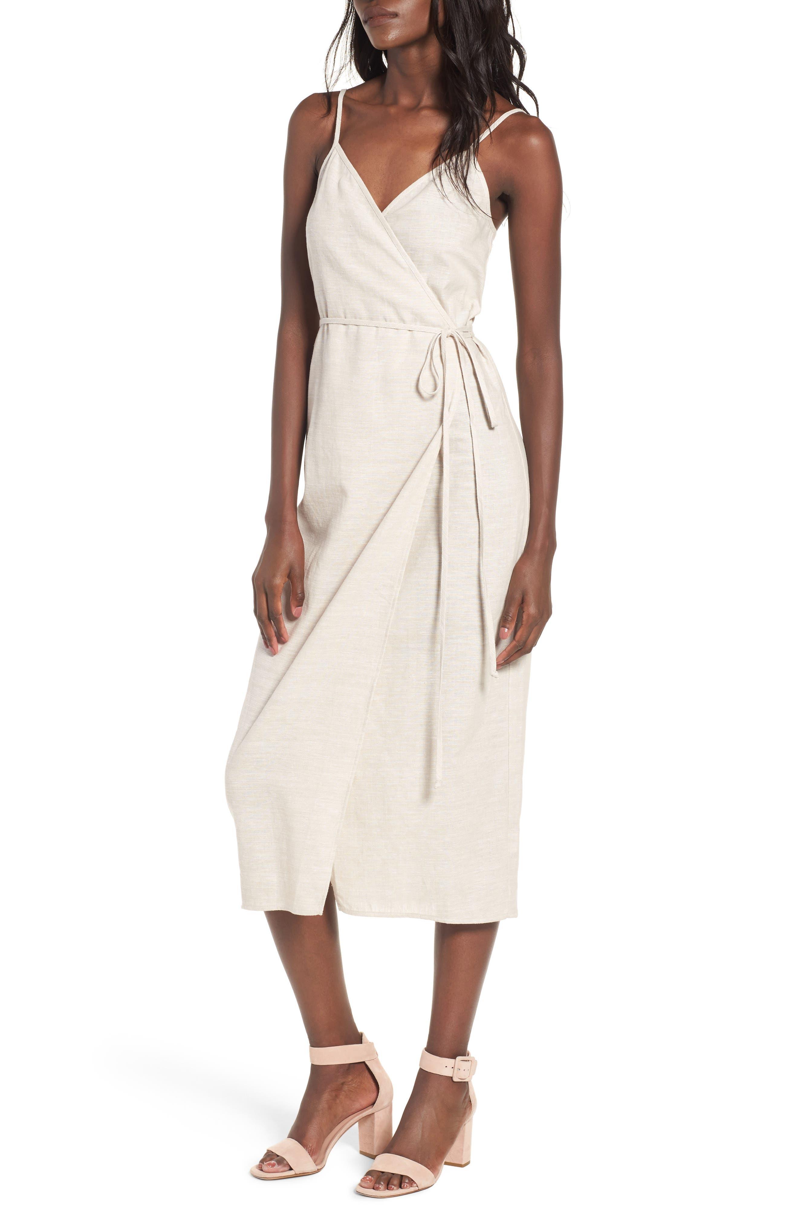 Wrap Midi Dress,                             Main thumbnail 2, color,