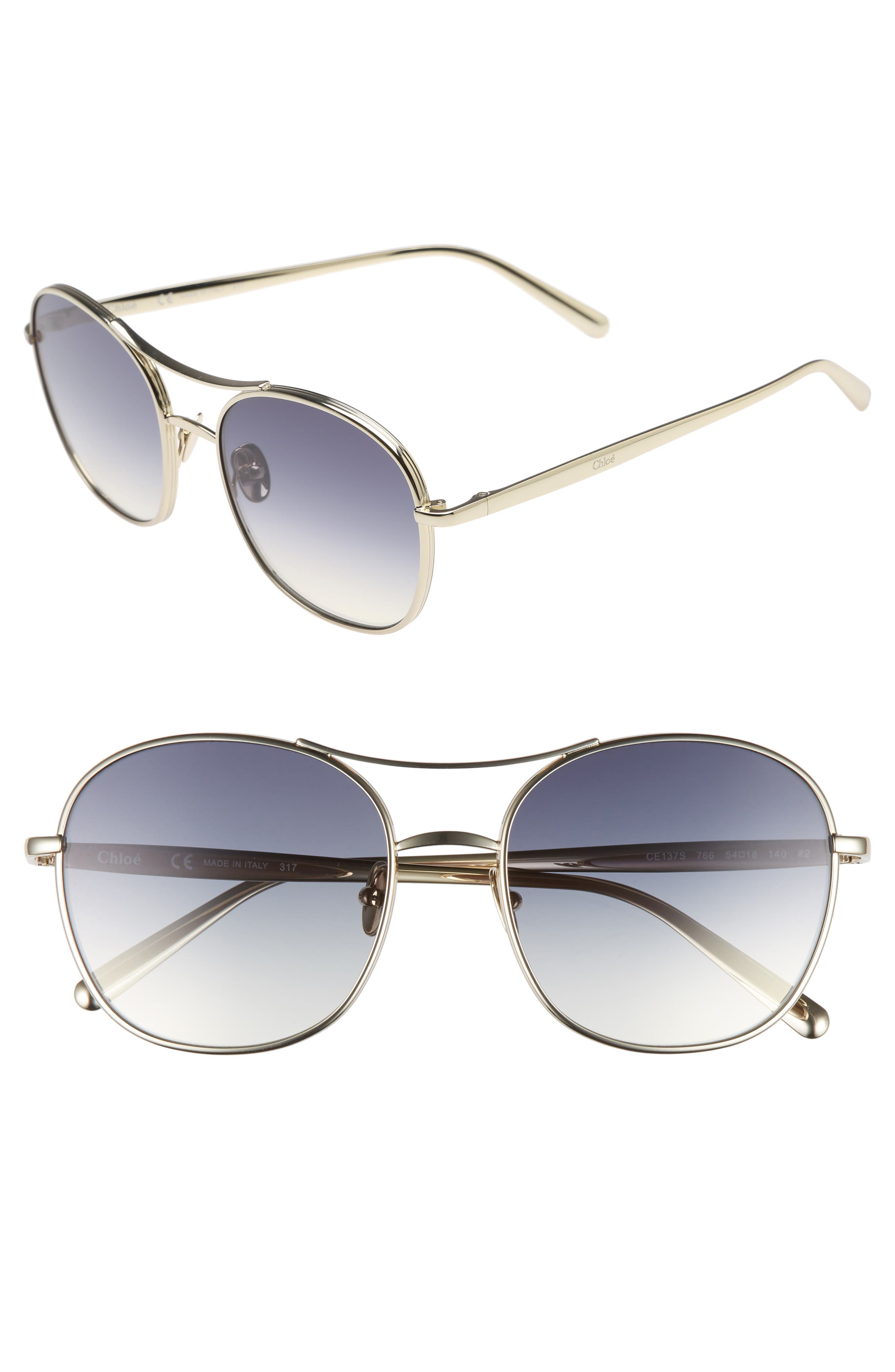 54mm Aviator Sunglasses,                         Main,                         color, 710