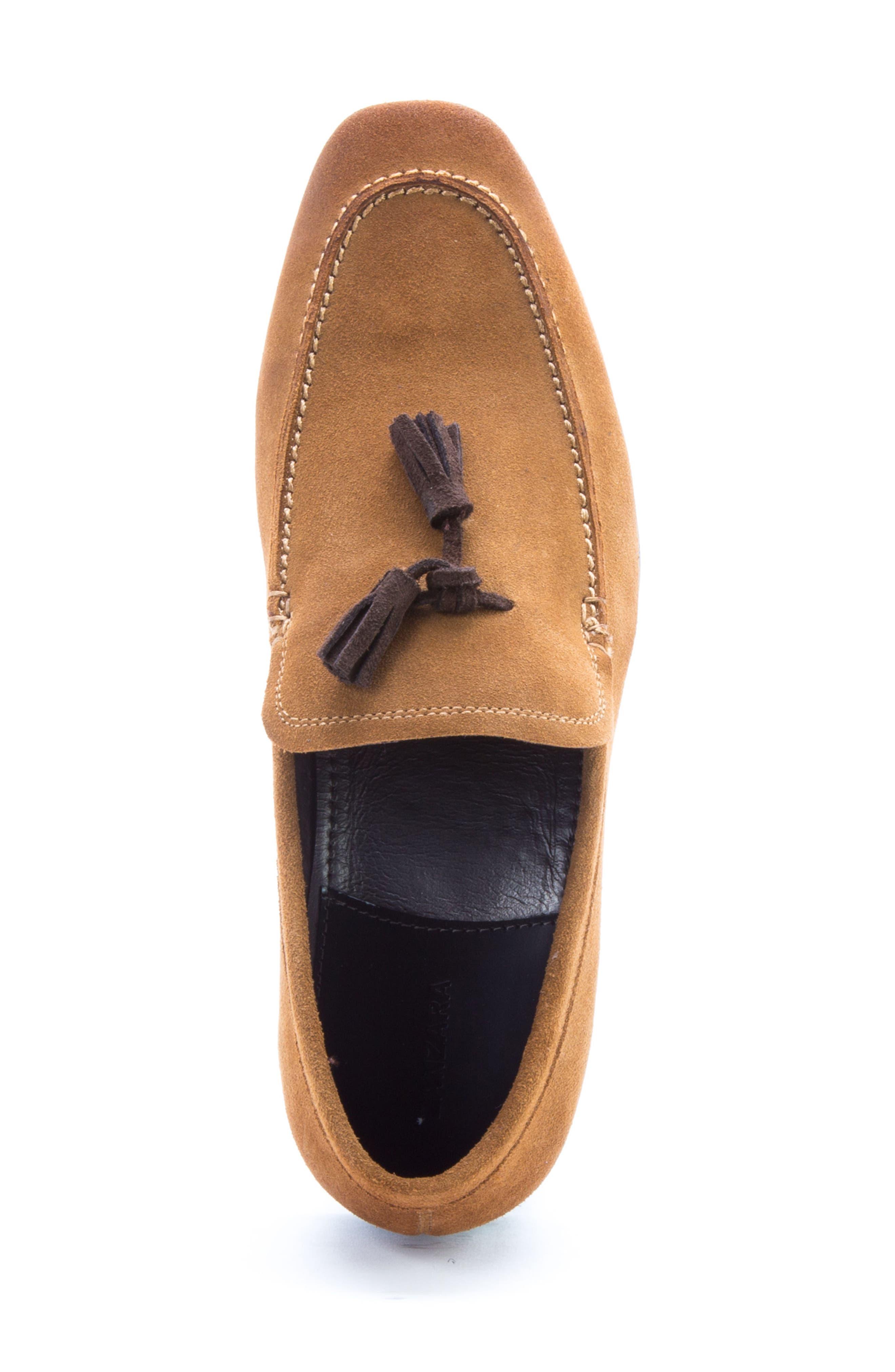 Severn Tassel Venetian Loafer,                             Alternate thumbnail 5, color,                             COGNAC SUEDE
