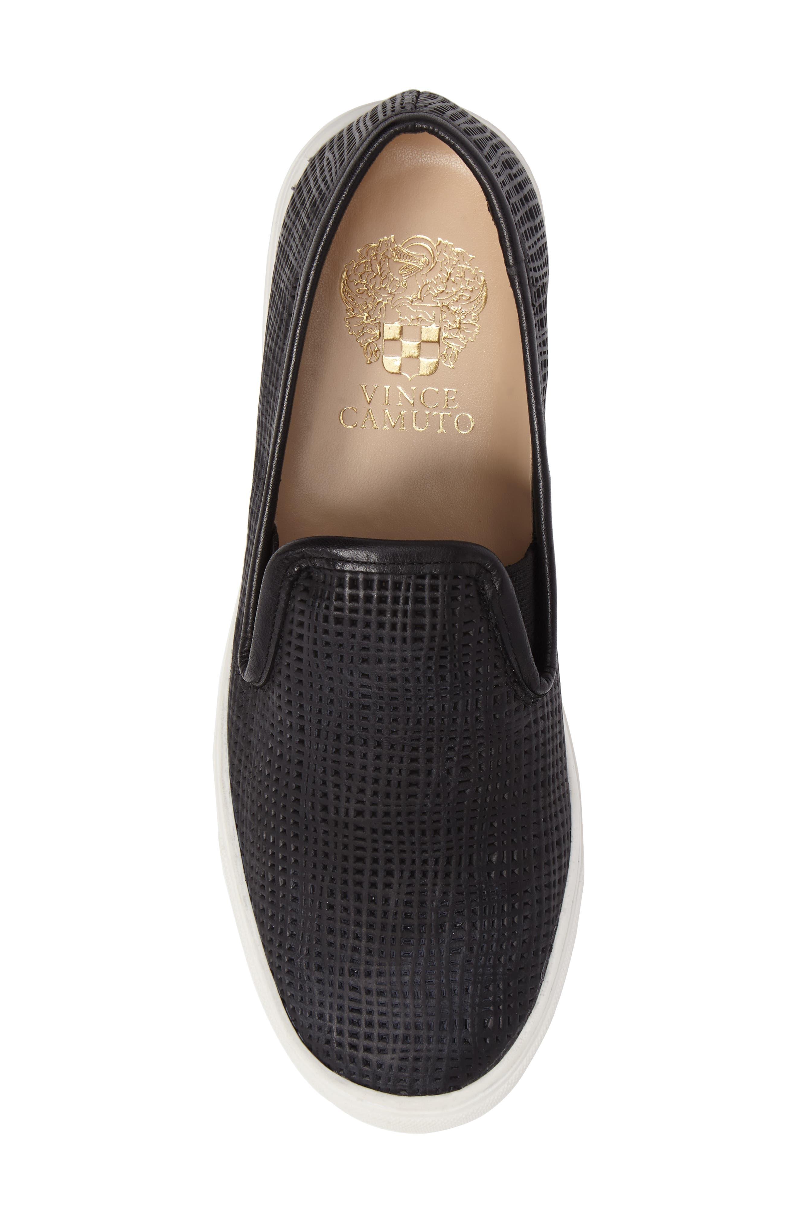 Becker Perforated Slip-On Sneaker,                             Alternate thumbnail 5, color,                             001