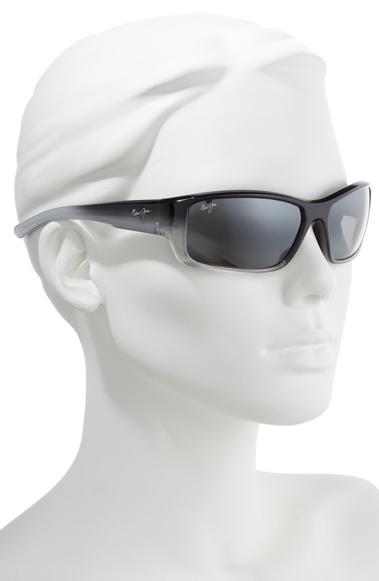 MAUI JIM,                             Barrier Reef 62mm PolarizedPlus2<sup>®</sup> Sunglasses,                             Alternate thumbnail 2, color,                             BLACK/ GREY