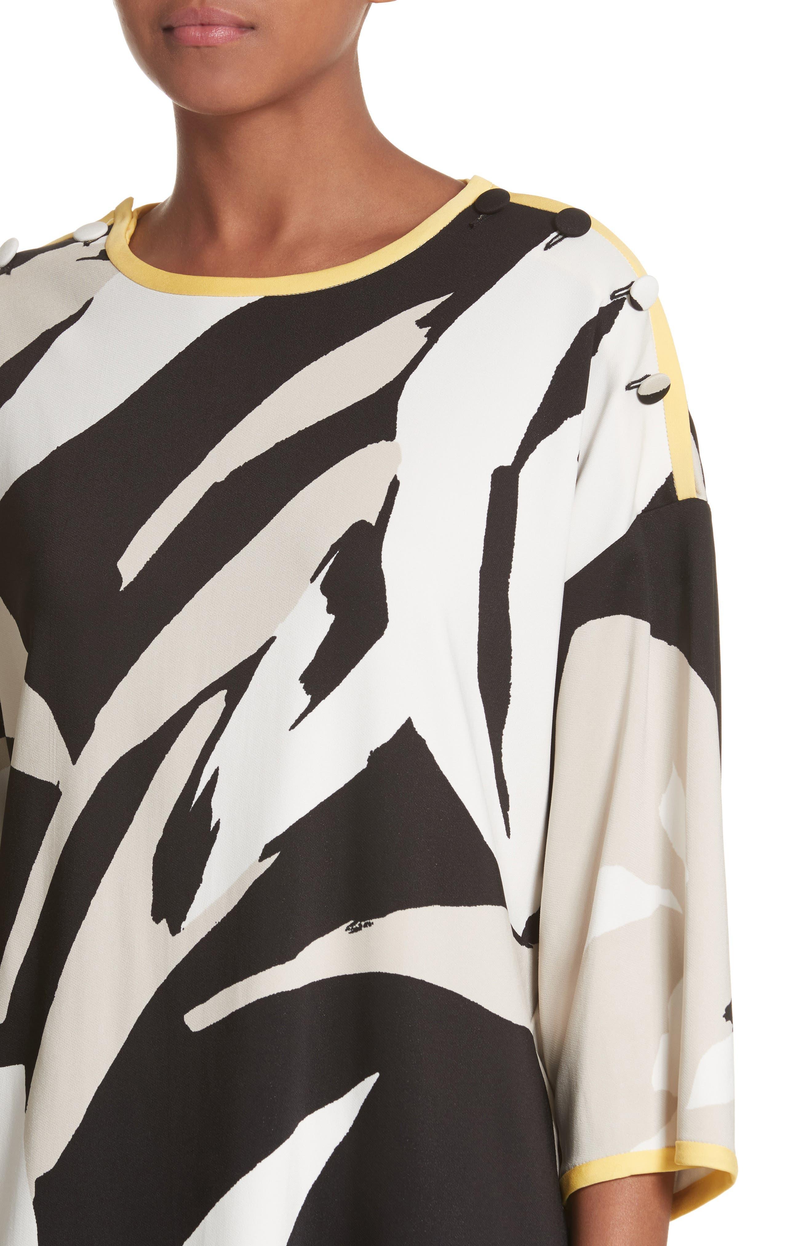 Leva Print Shift Dress,                             Alternate thumbnail 4, color,