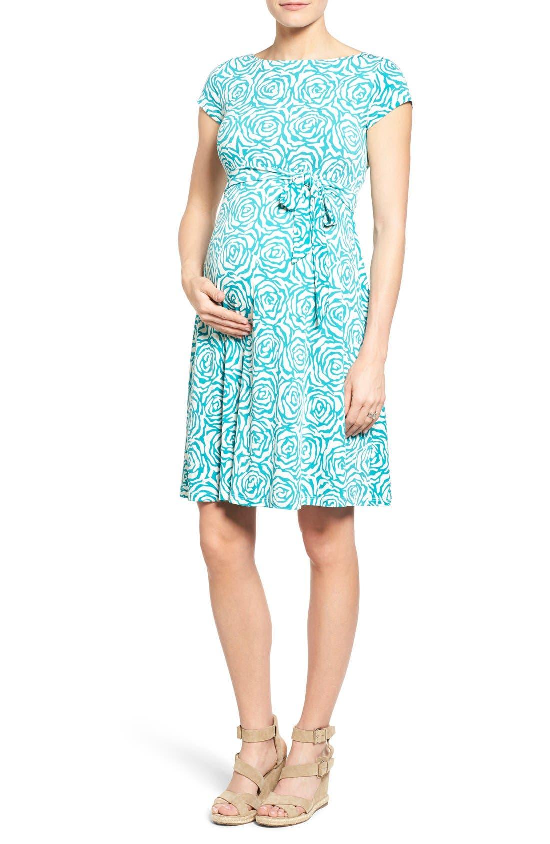 'Ilana' A-Line Maternity Dress,                             Main thumbnail 4, color,