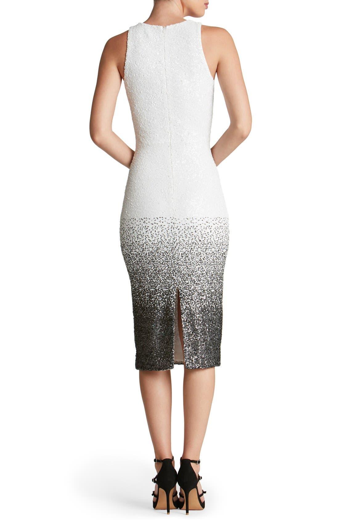 Shawn Sequin Midi Dress,                             Alternate thumbnail 2, color,                             121