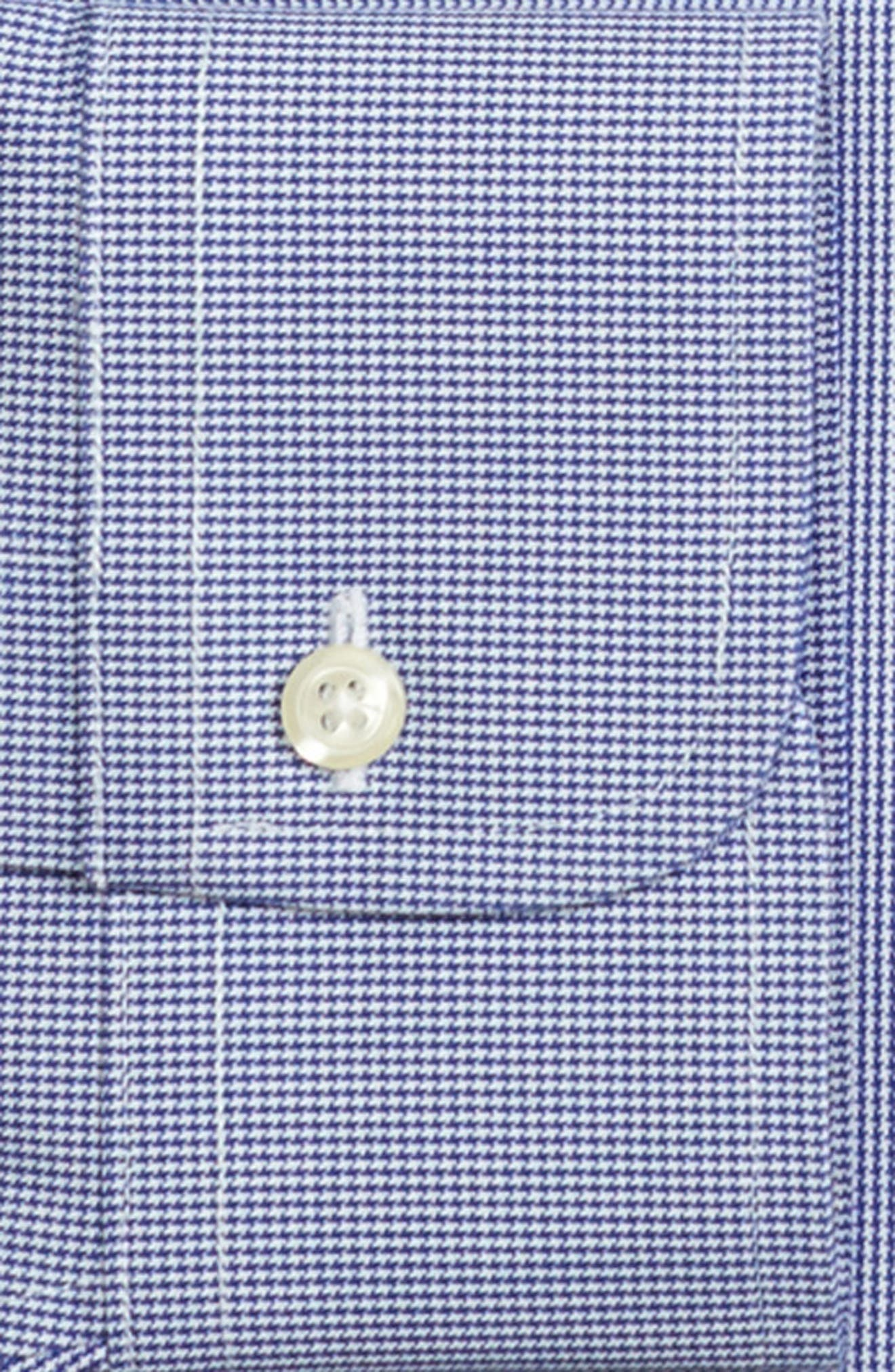 Regular Fit Houndstooth Dress Shirt,                             Alternate thumbnail 2, color,                             BLUE
