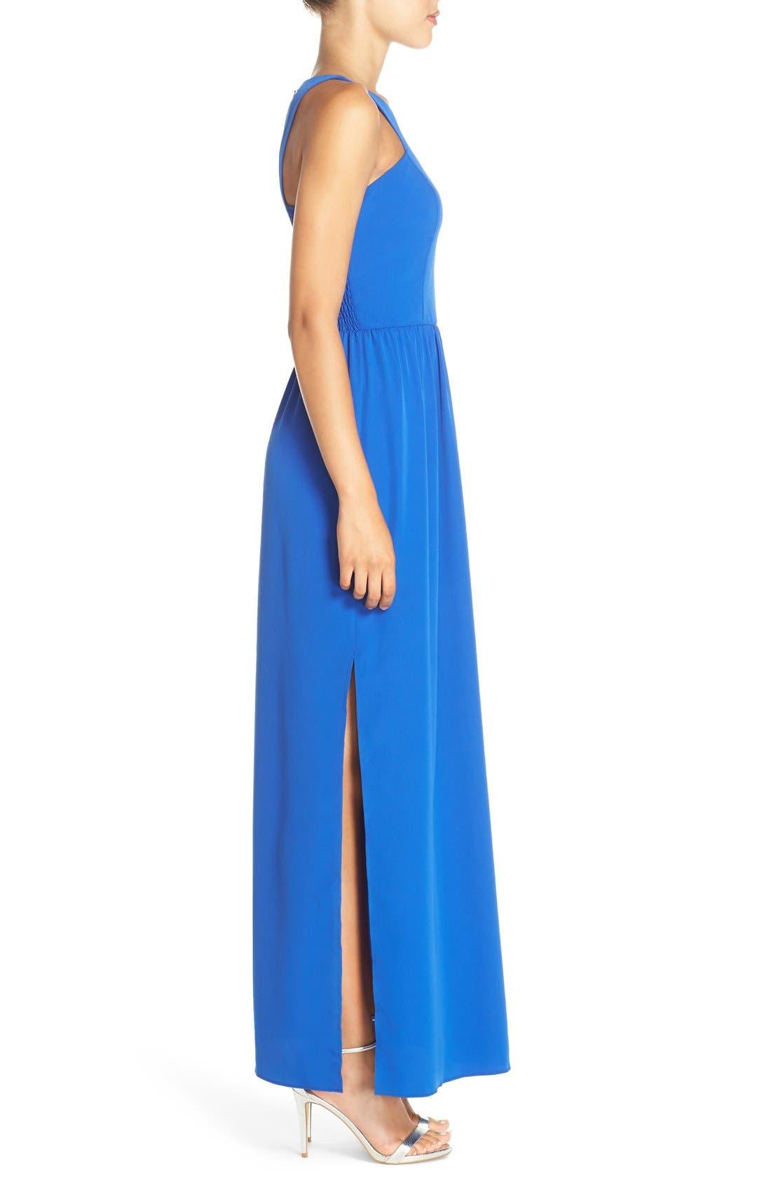 Cutaway Shoulder Maxi Dress,                             Alternate thumbnail 5, color,                             401
