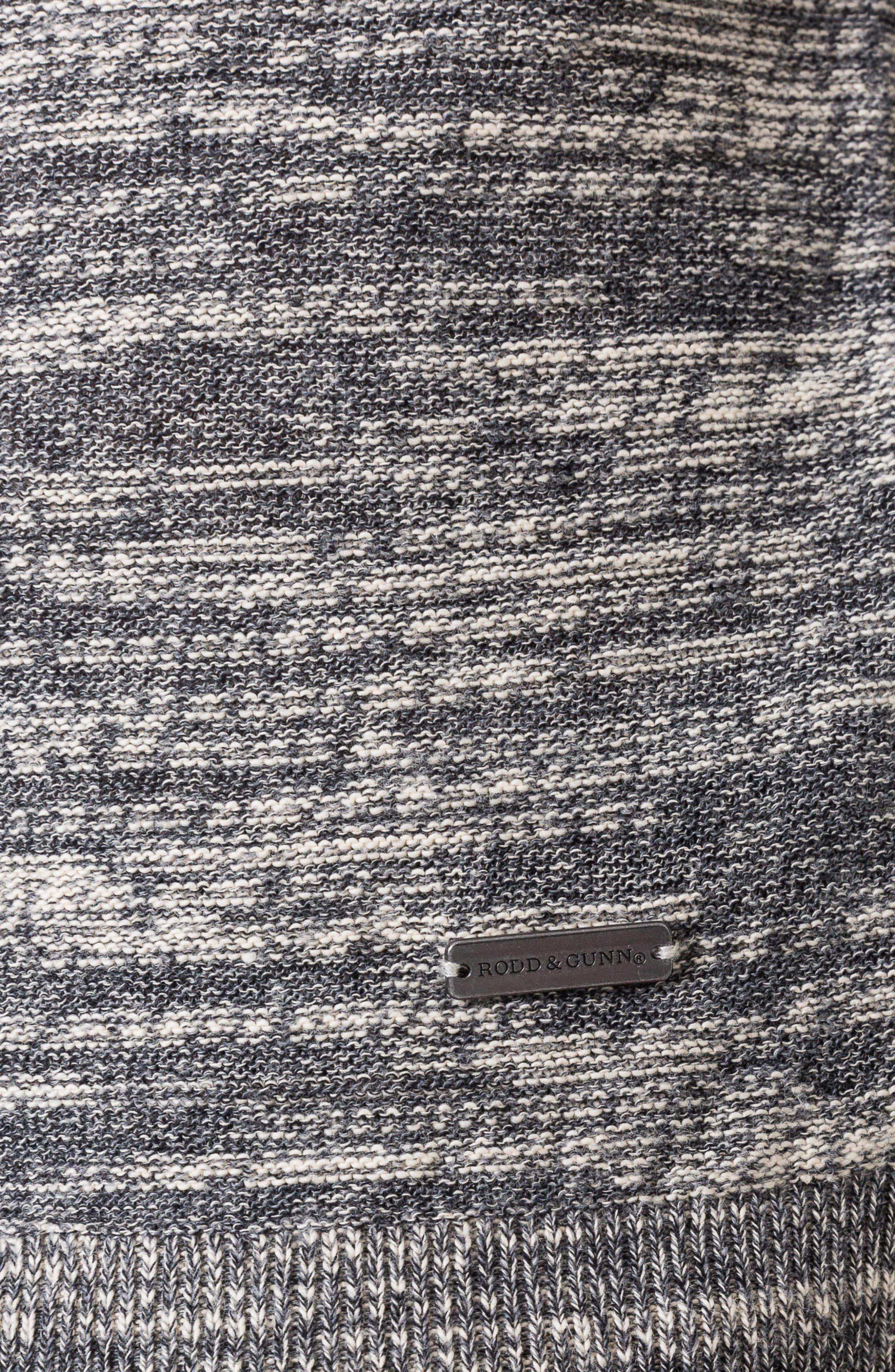 Atley Road Regular Fit Raglan Shirt,                             Alternate thumbnail 5, color,                             GRANITE