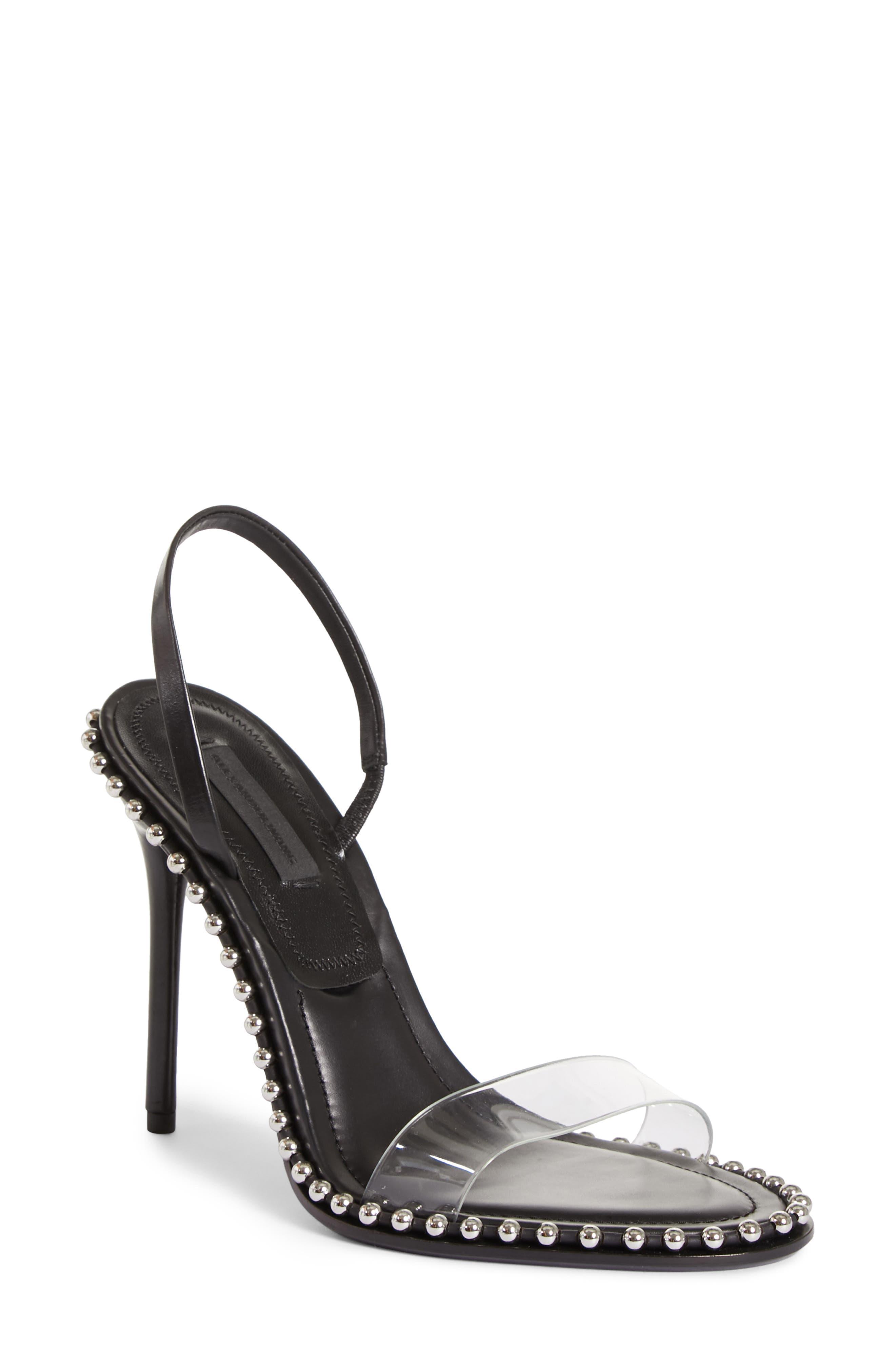 Nova Studded Sandal,                         Main,                         color, BLACK