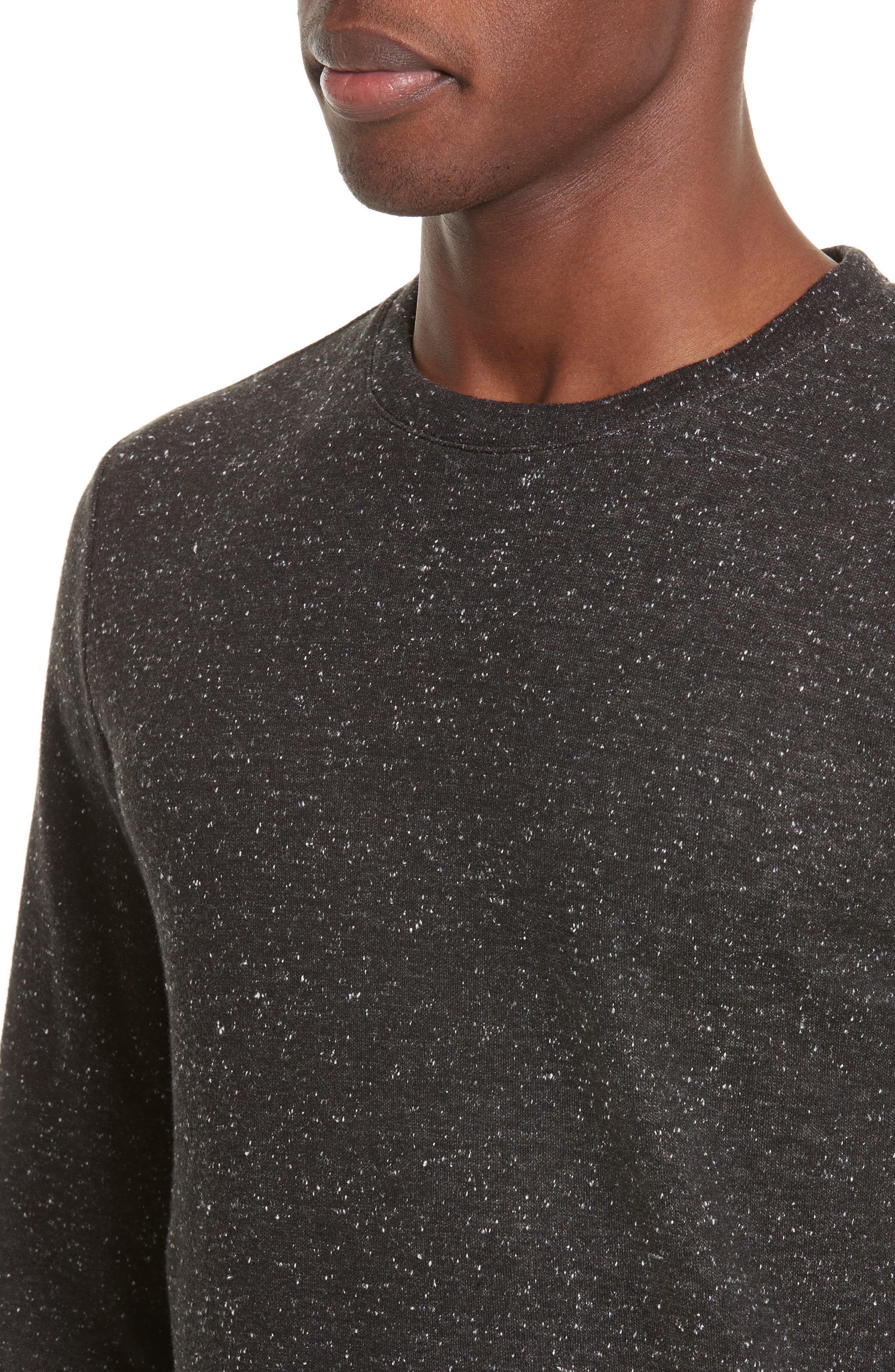 Speckle Sweat Track Sweater,                             Alternate thumbnail 4, color,                             065