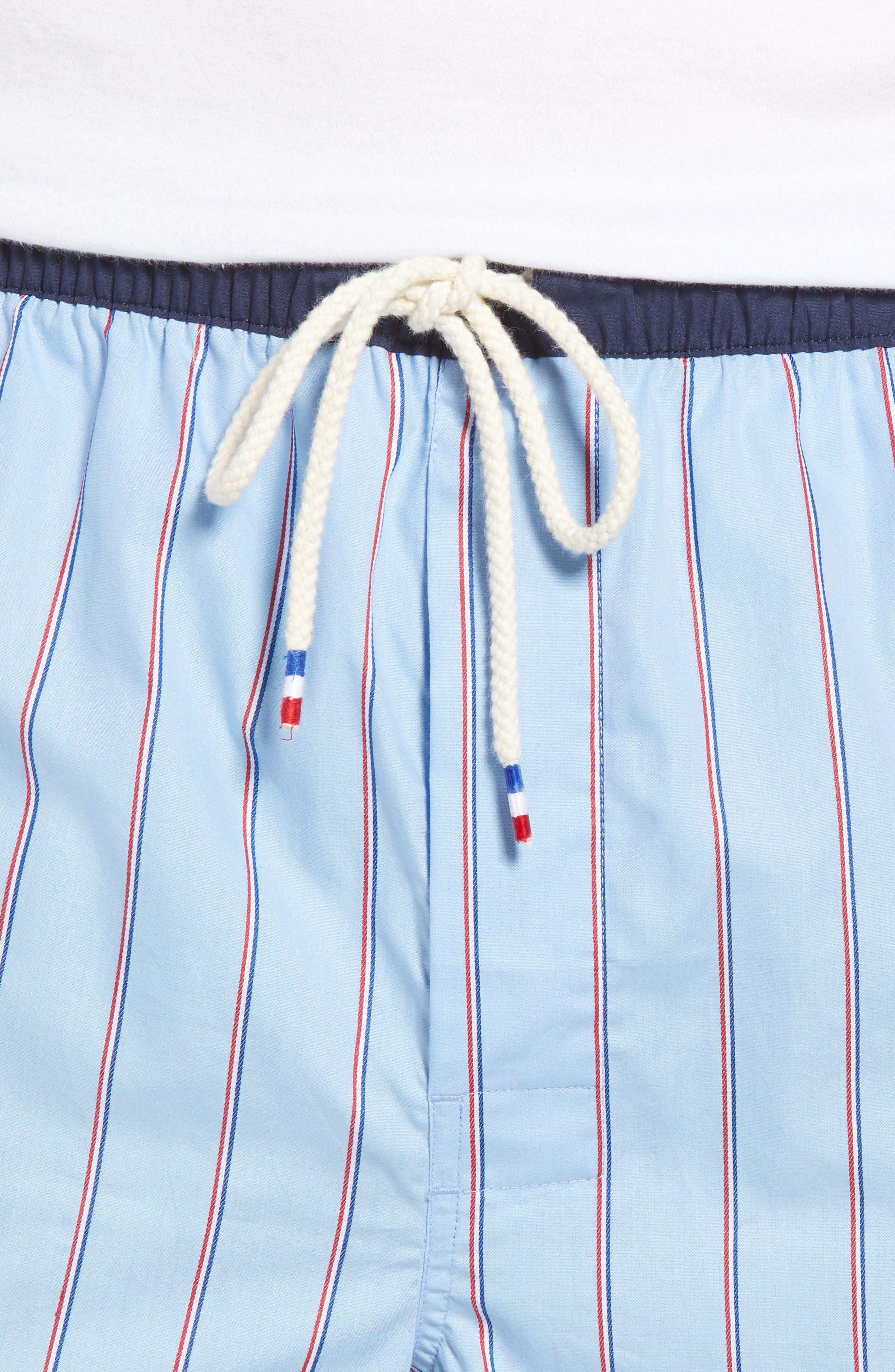Cotton Sleep Shorts,                             Alternate thumbnail 4, color,                             OMPHALODES