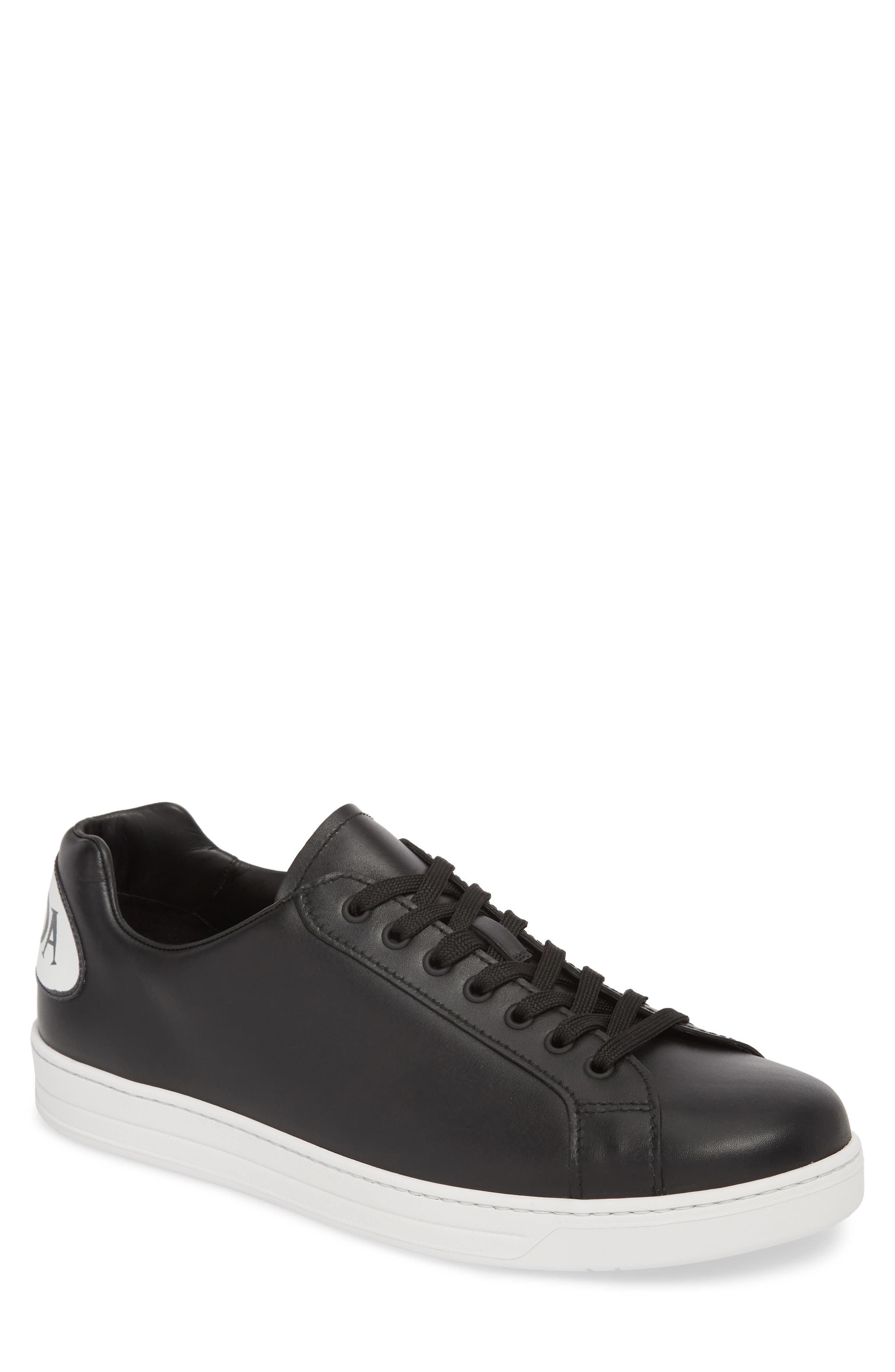 PRADA LINEA ROSSA,                             Patch Low Top Sneaker,                             Main thumbnail 1, color,                             012
