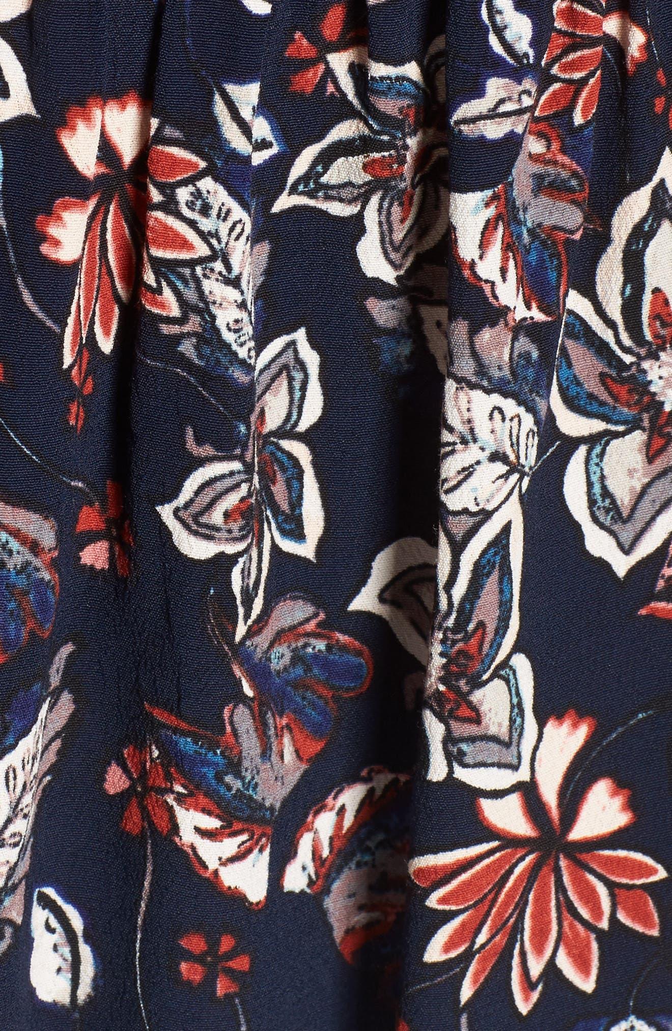 Floral Surplice Top,                             Alternate thumbnail 5, color,                             409