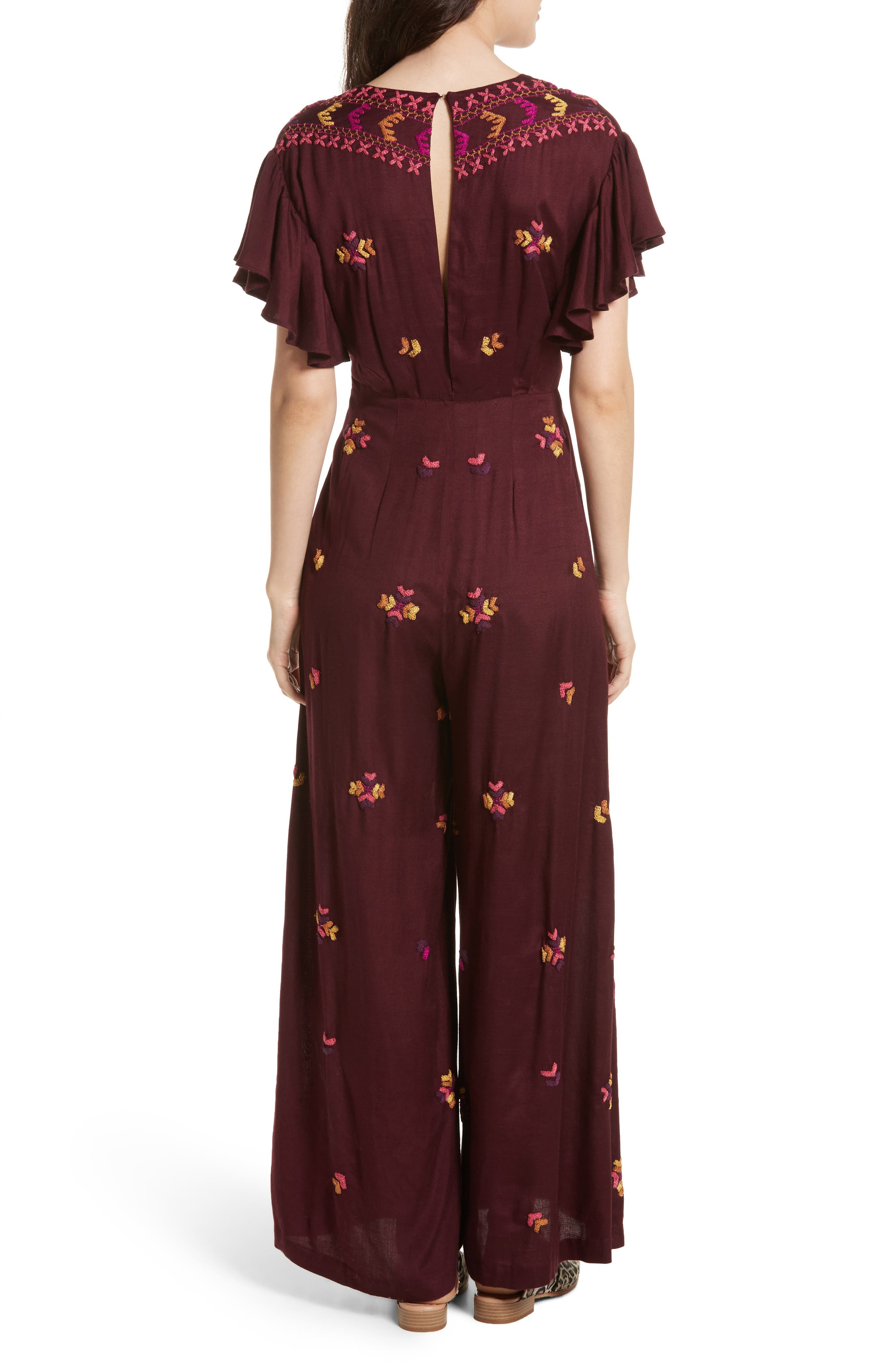 Cleo Embroidered Jumpsuit,                             Alternate thumbnail 2, color,                             500