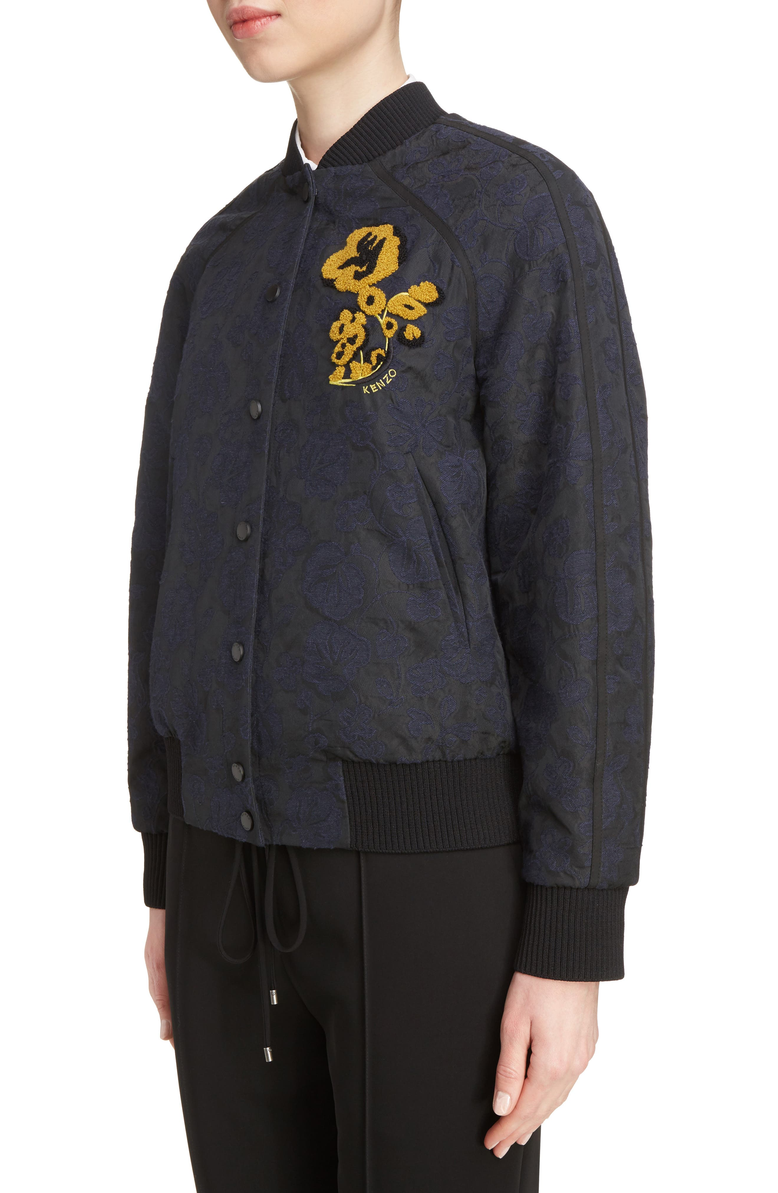 Jacquard Bomber Jacket,                             Alternate thumbnail 4, color,                             402